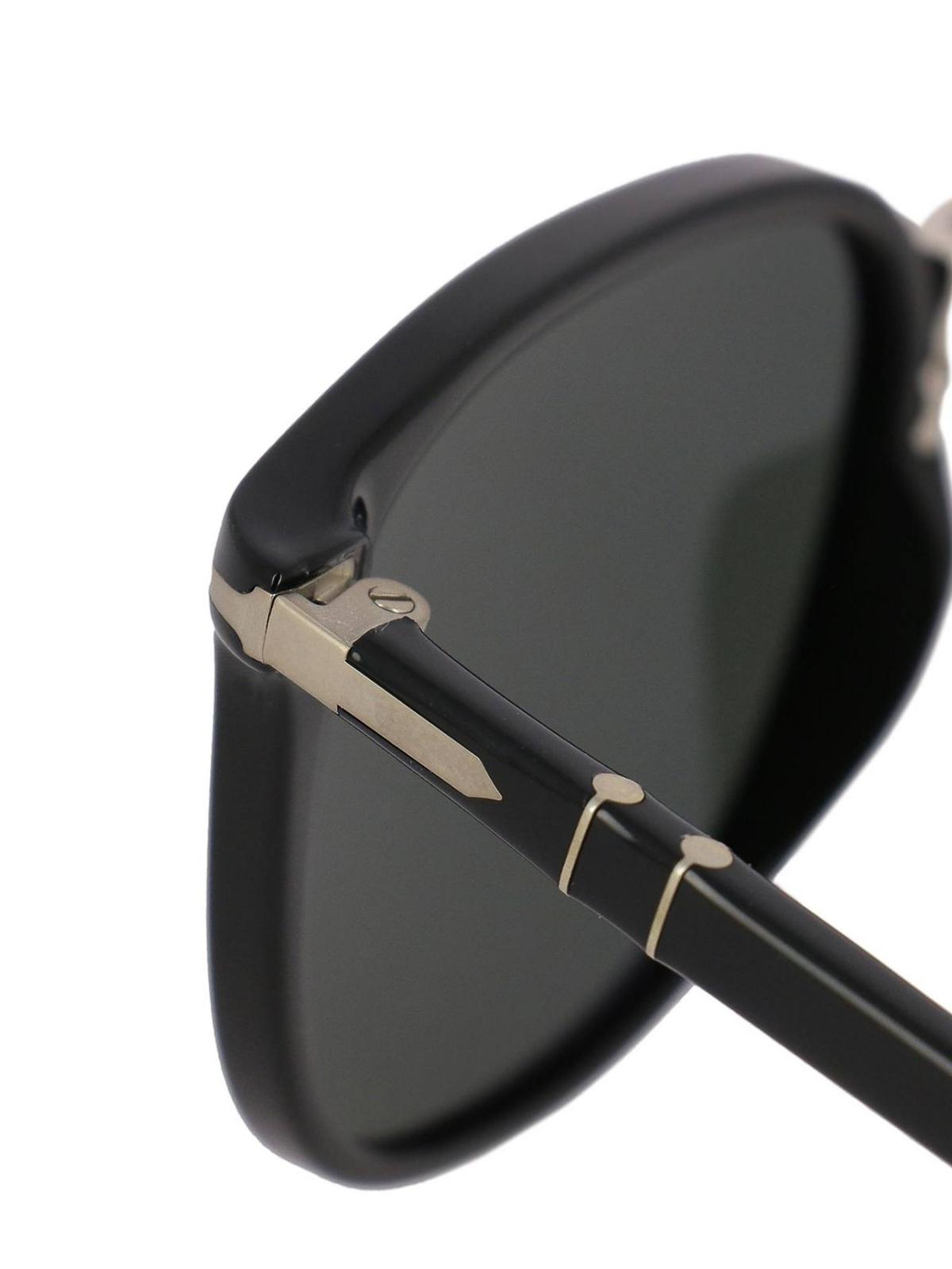 ba1377f04b7 iKRIX PERSOL  sunglasses - Black panto sunglasses with metal bridge