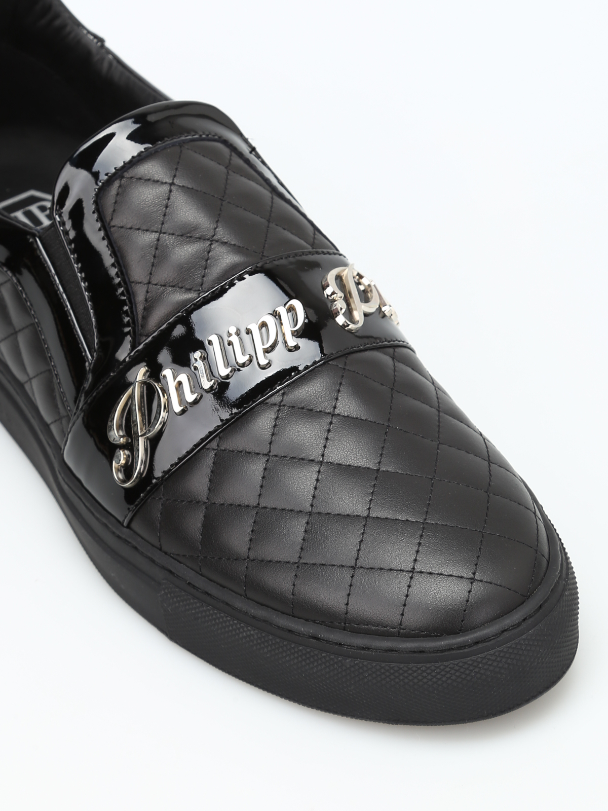Fort smith quilted leather slip-ons