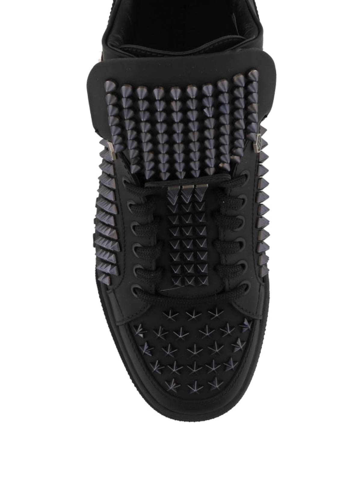 black trainers with studs