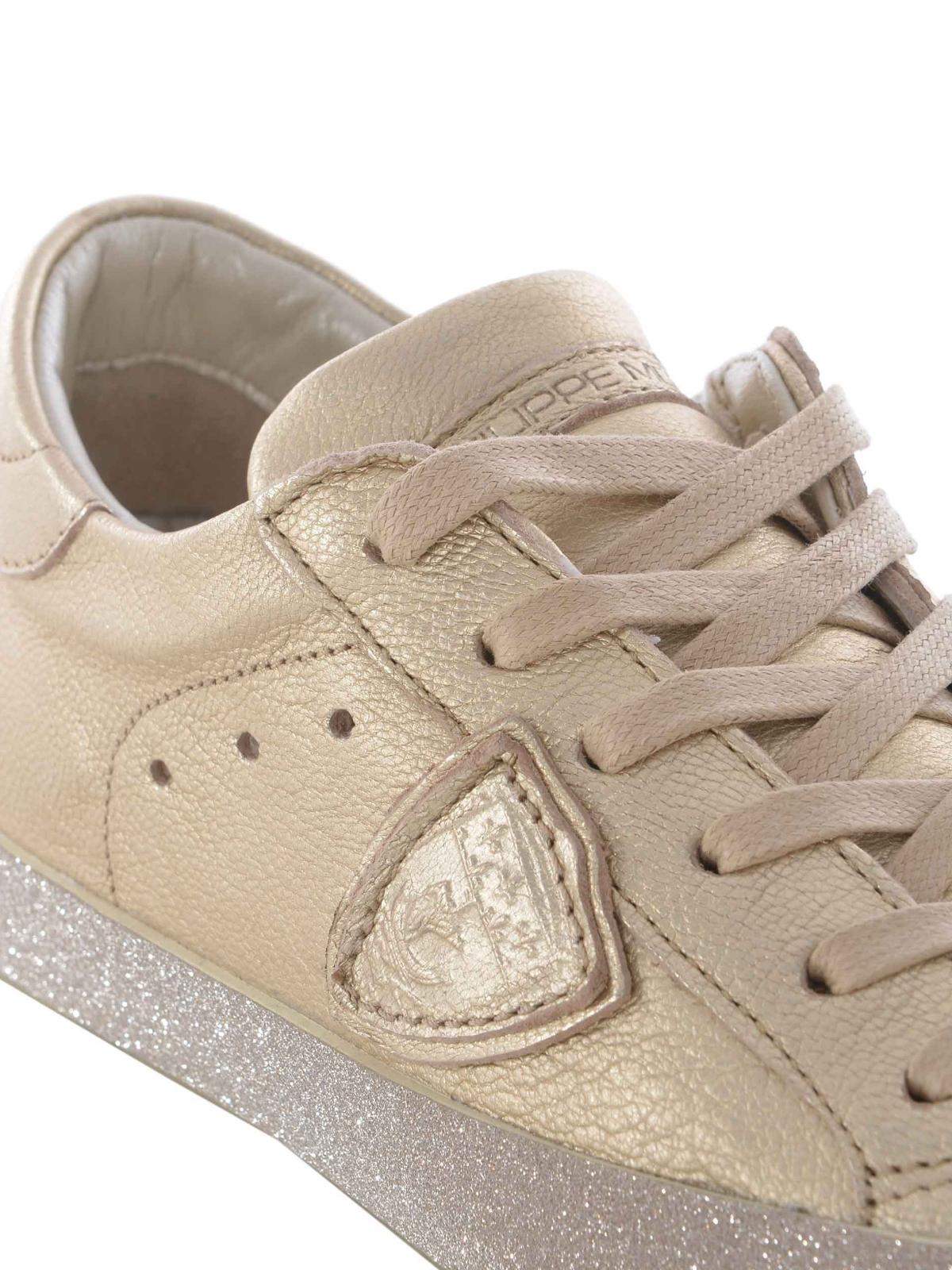 sneaker paris glitter in pelle philippe model sneakers. Black Bedroom Furniture Sets. Home Design Ideas
