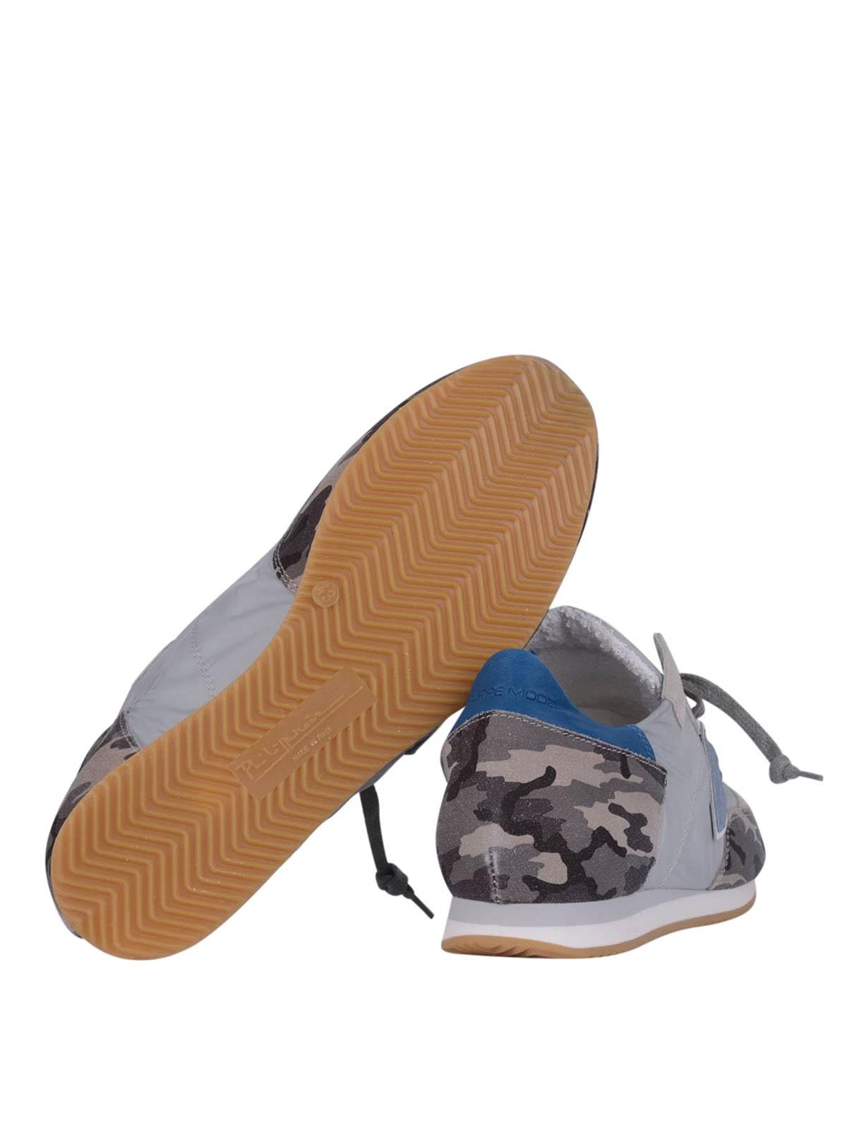 c923352d7b26 Philippe Model - Tropez camouflage print sneakers - trainers - TRLU CX02