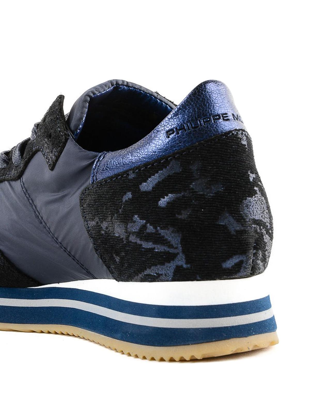 Tropez Higher blue camo sneakers