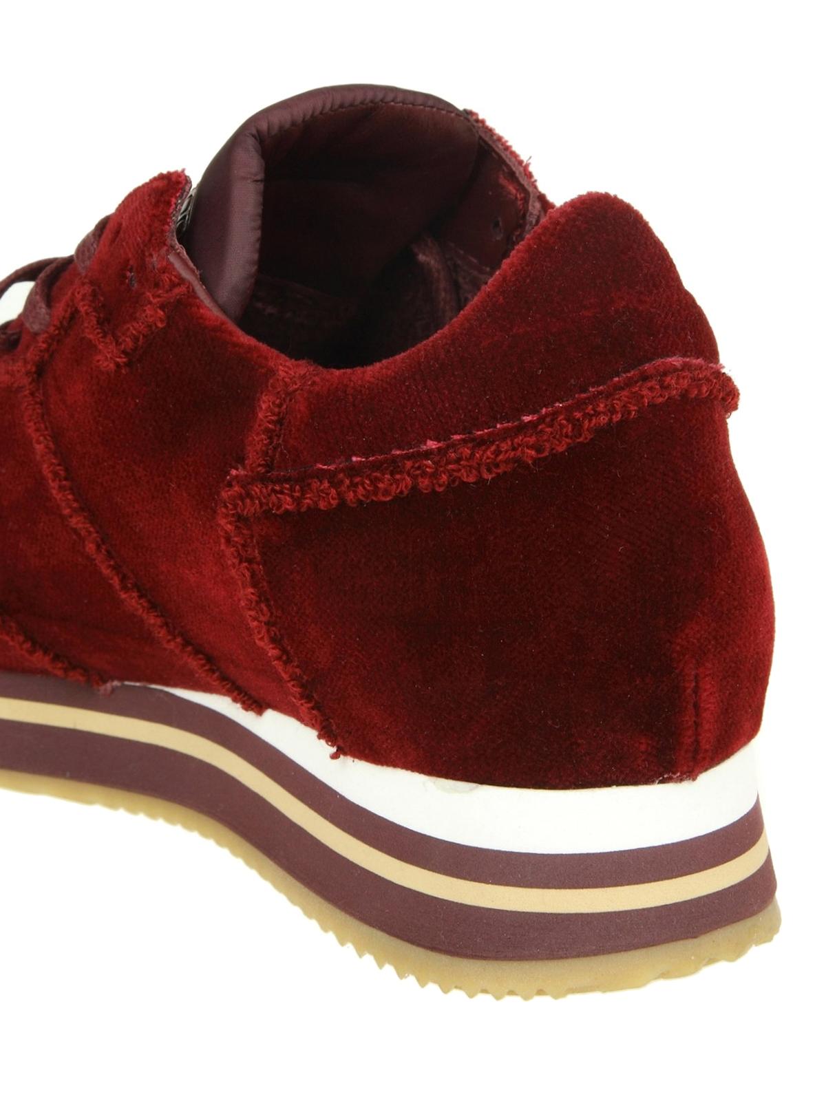 iKRIX PHILIPPE MODEL  trainers - Tropez Higher velour rouge velvet sneakers 8d3aec76e6e