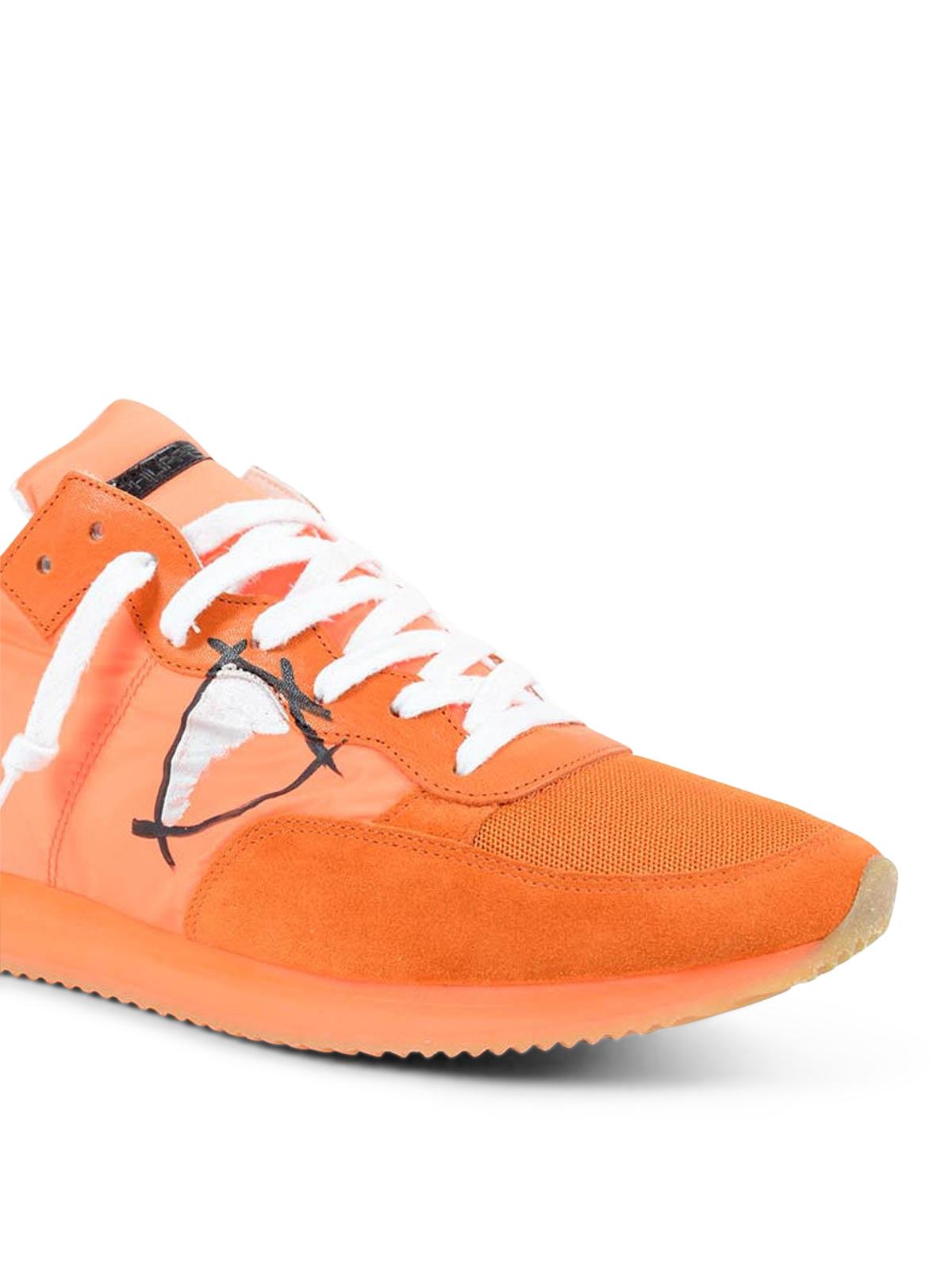 Neon orange Tropez sneakers Philippe Model w3TA4xqmo9