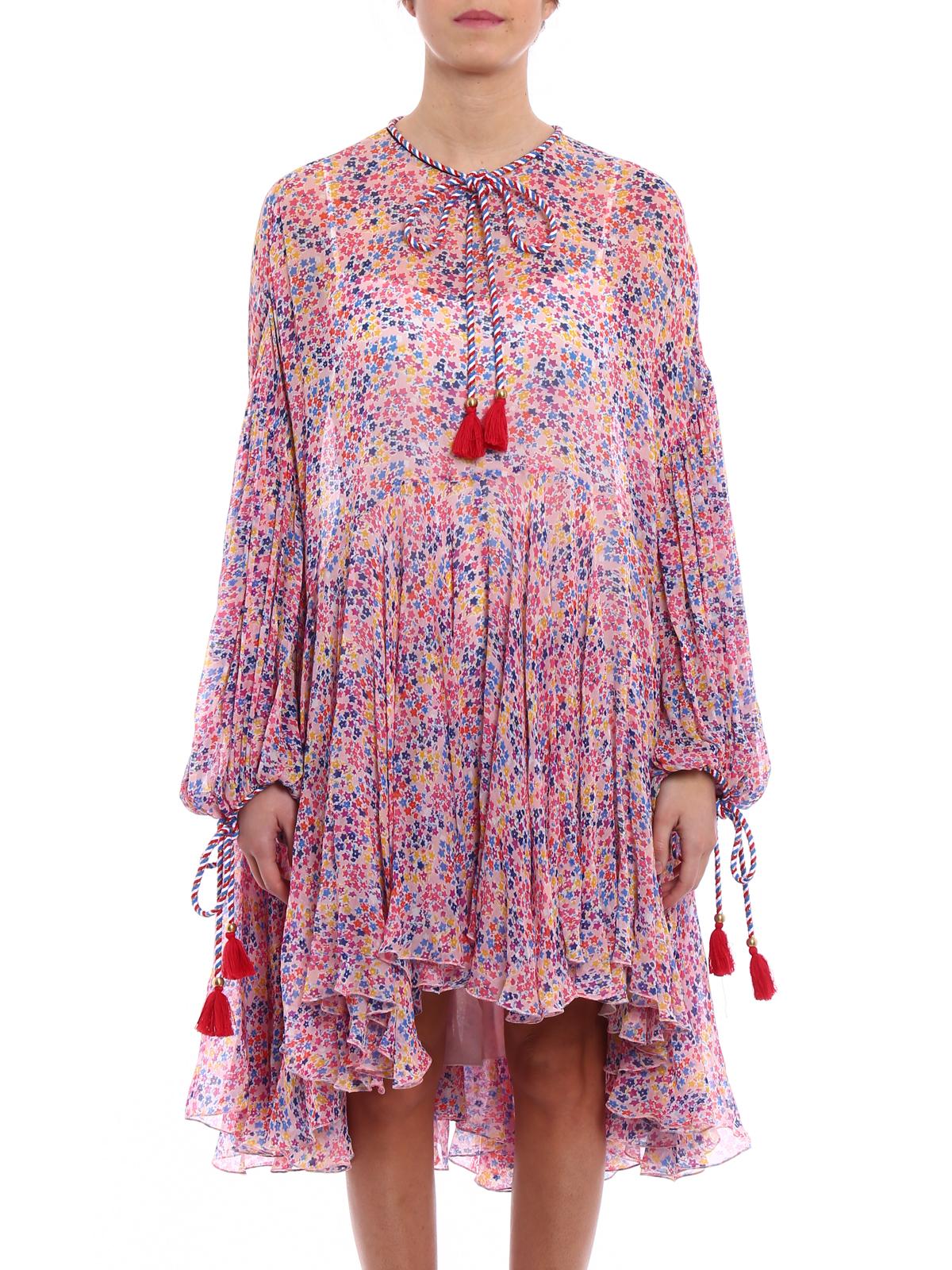 relaxed fit lace dress - Pink & Purple Philosophy di Lorenzo Serafini 9guUoMjwS
