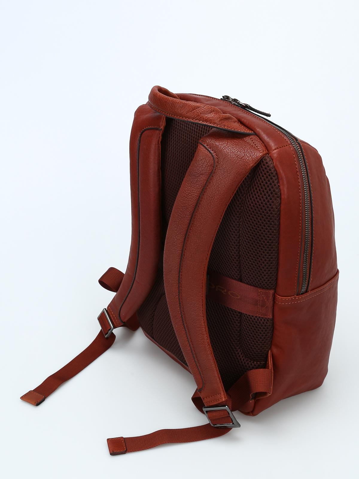 rivenditore online 2e14e 3c05e Piquadro - Zainetto in pelle color cuoio - zaini - CA4022B3 ...
