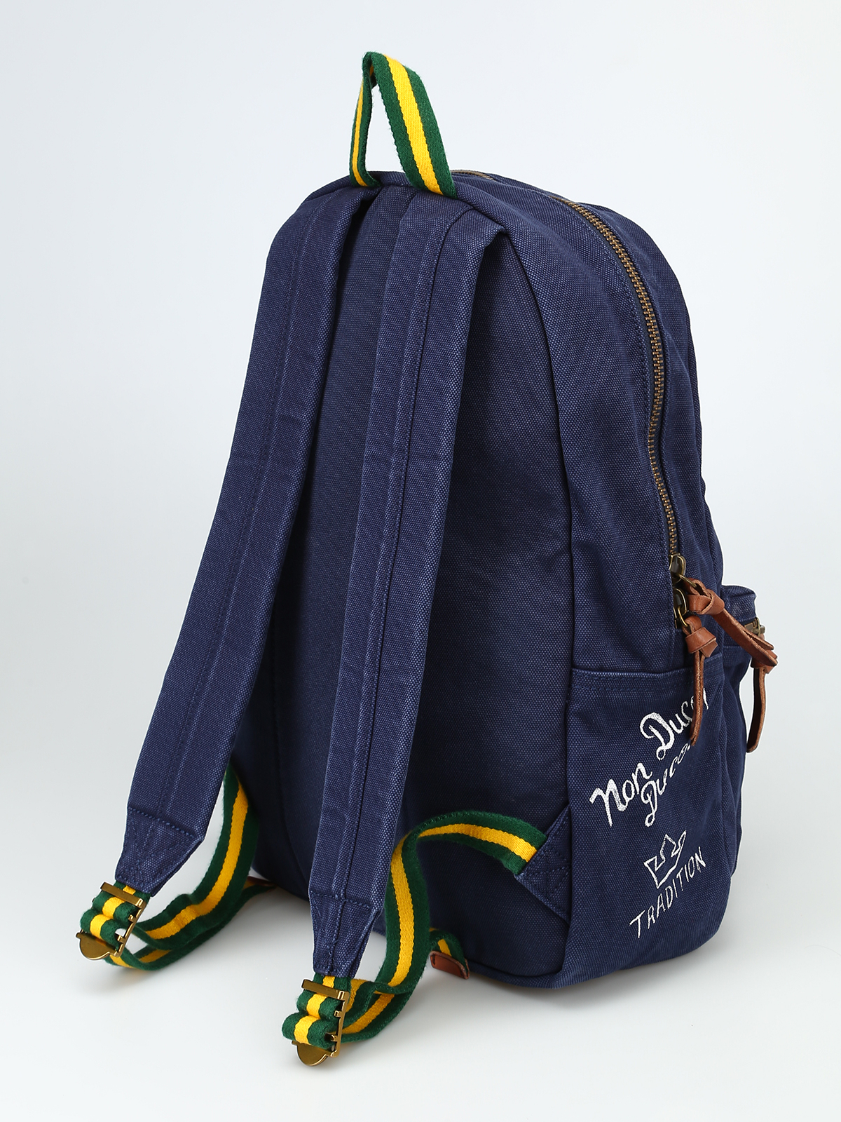 13047815cc iKRIX POLO RALPH LAUREN  backpacks - Printed blue canvas backpack with patch