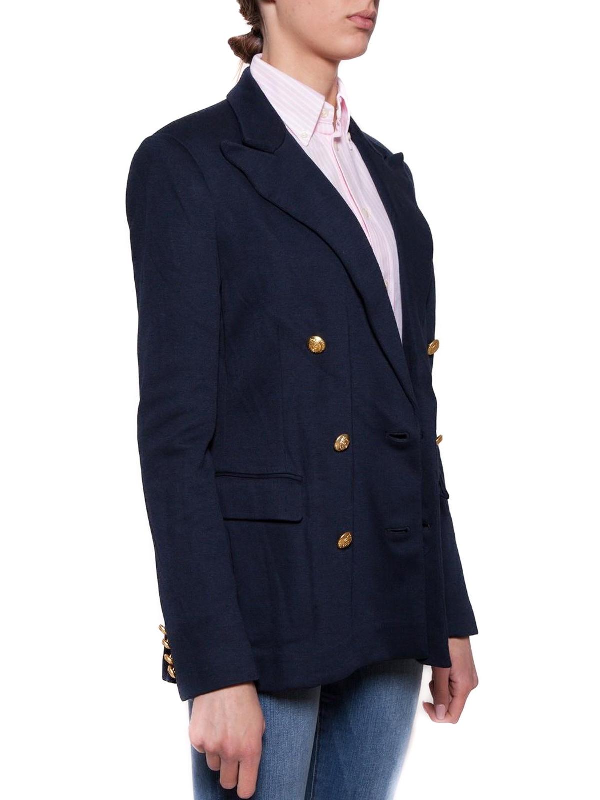 69ec10a674887 Polo Ralph Lauren - Knit cotton blend blazer - blazers - 211659996001