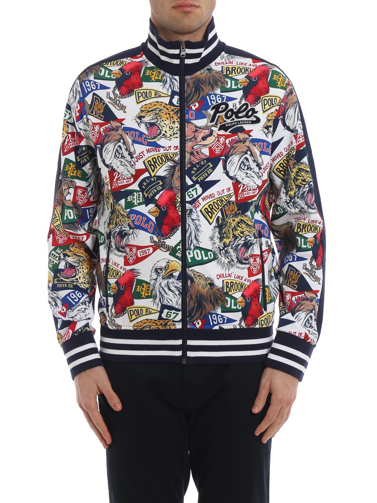 Polo Ralph Lauren - Graphic print varsity bomber jacket ...