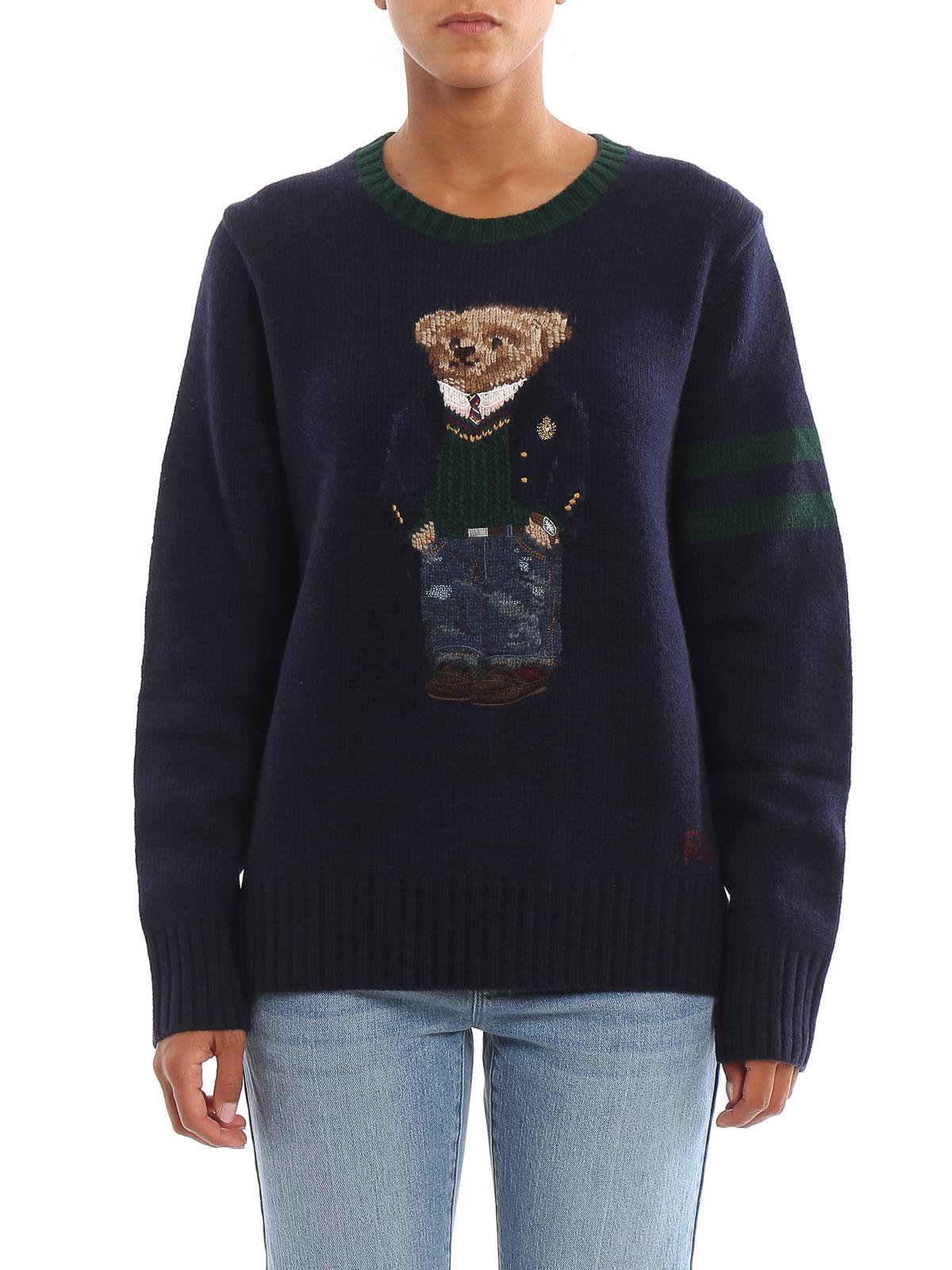 migliore a buon mercato c2481 93c79 Polo Ralph Lauren - Polo Bear embroidery wool sweater - crew necks ...
