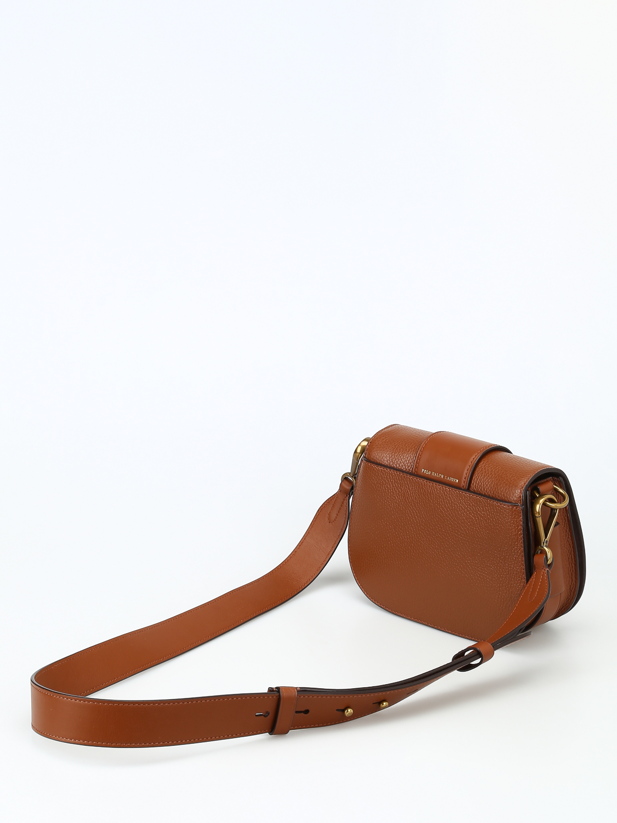 iKRIX POLO RALPH LAUREN  cross body bags - Hammered leather saddle bag b792e34781a8e