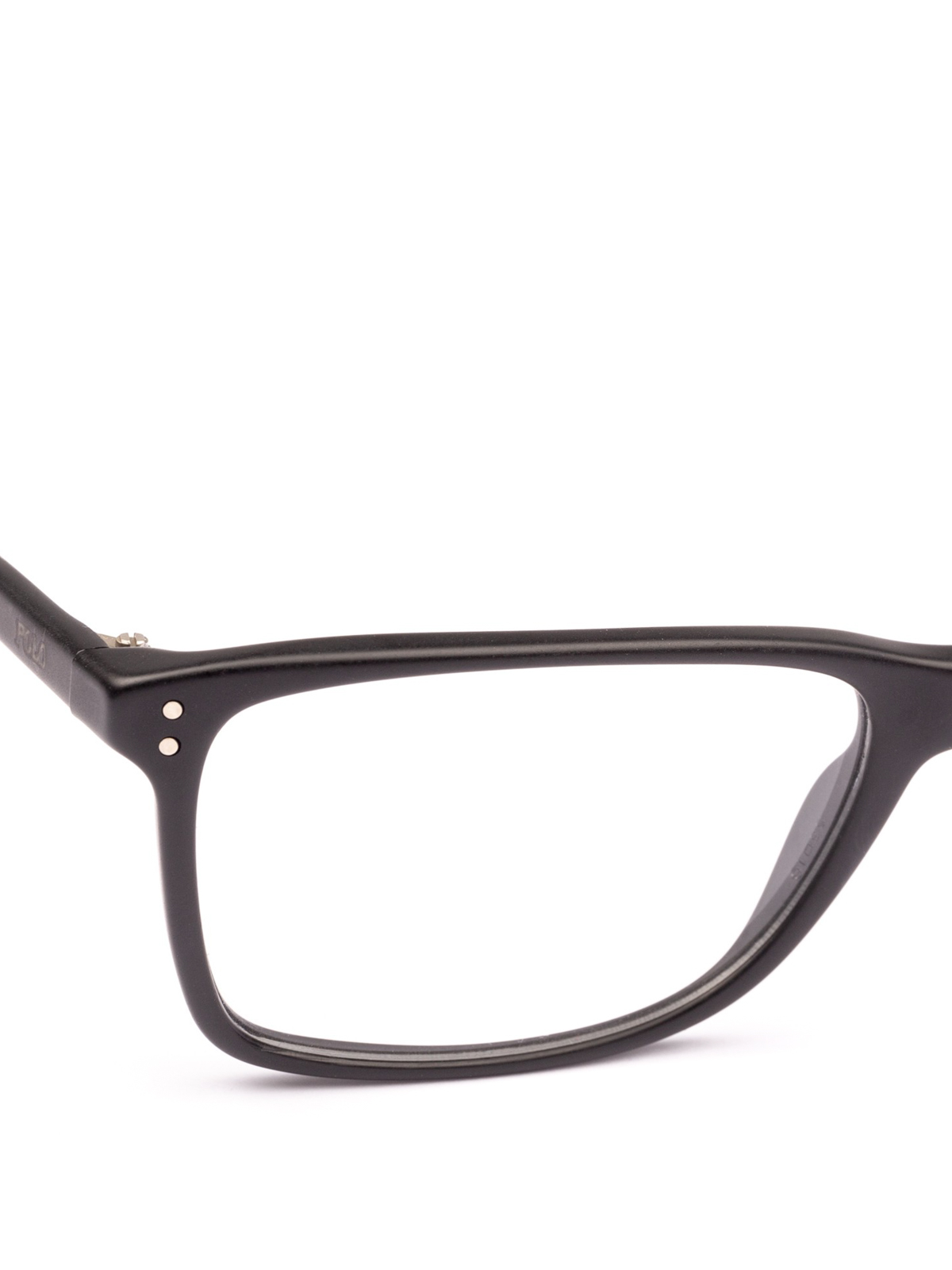 1ccfe57e04cc iKRIX POLO RALPH LAUREN: Glasses - Black acetate frame rectangular glasses