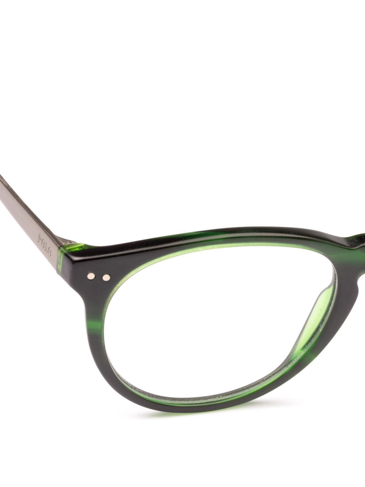 Acetate Ralph Metal Frame Polo Green And Oval Glasses Lauren F1cJlK