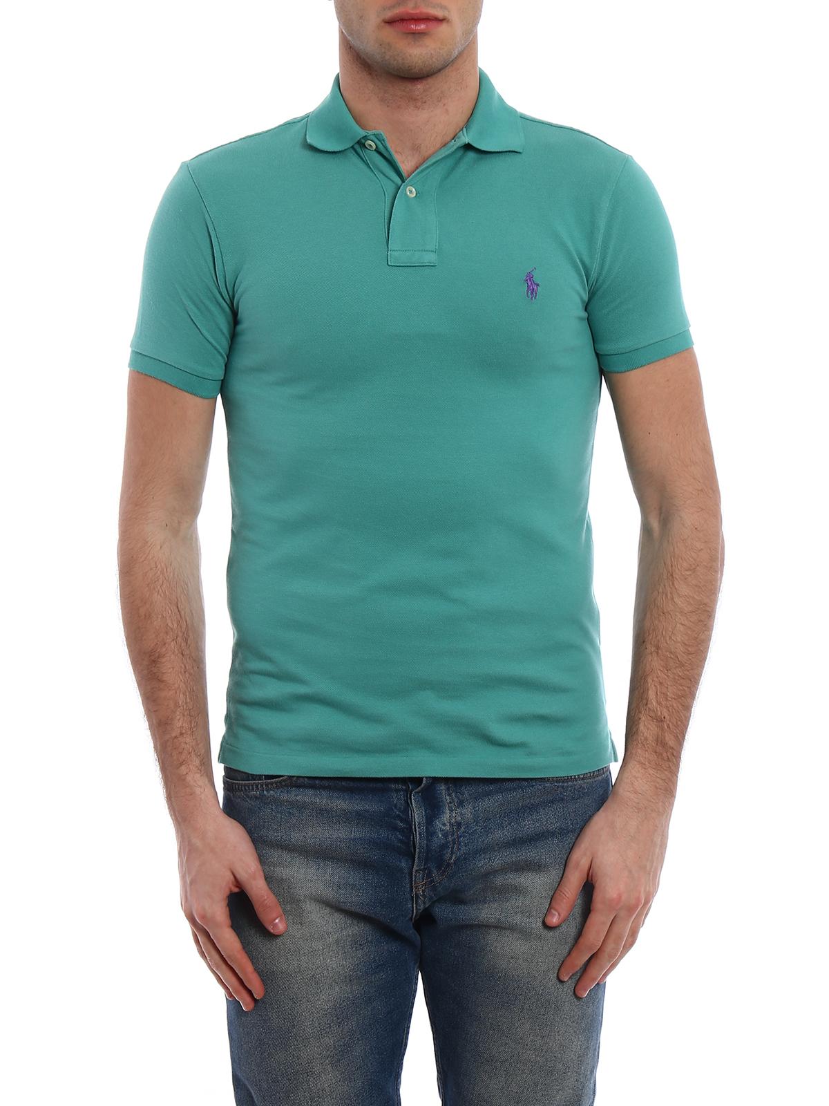 Polo Ralph Lauren - Purple logo classic polo shirt - polo shirts ...