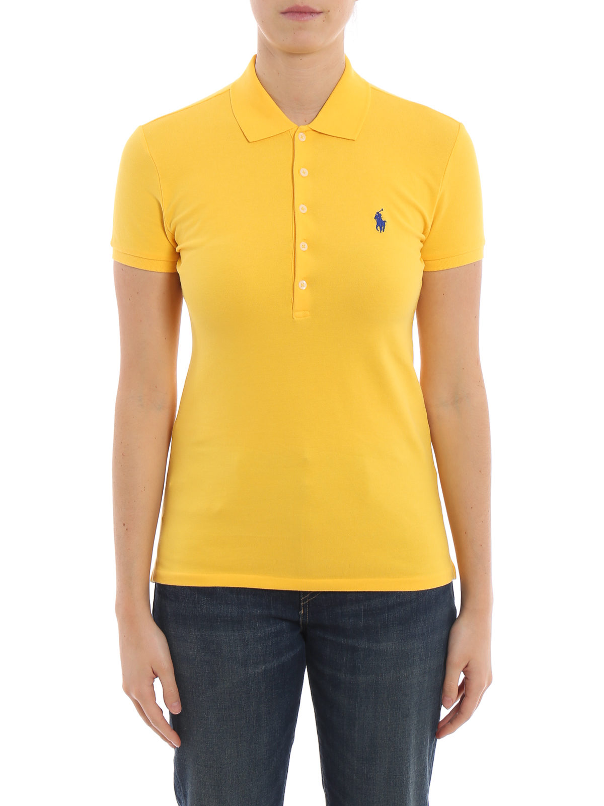 polo ralph lauren slim fit yellow cotton polo shirt. Black Bedroom Furniture Sets. Home Design Ideas