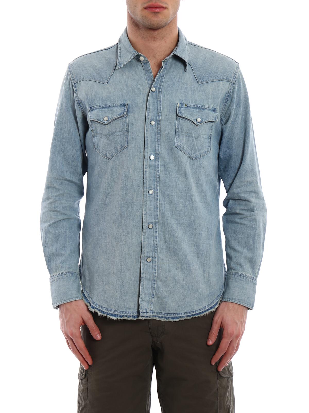 new arrival 6dbfe 19ae6 Polo Ralph Lauren - Camicia di jeans classica - camicie ...
