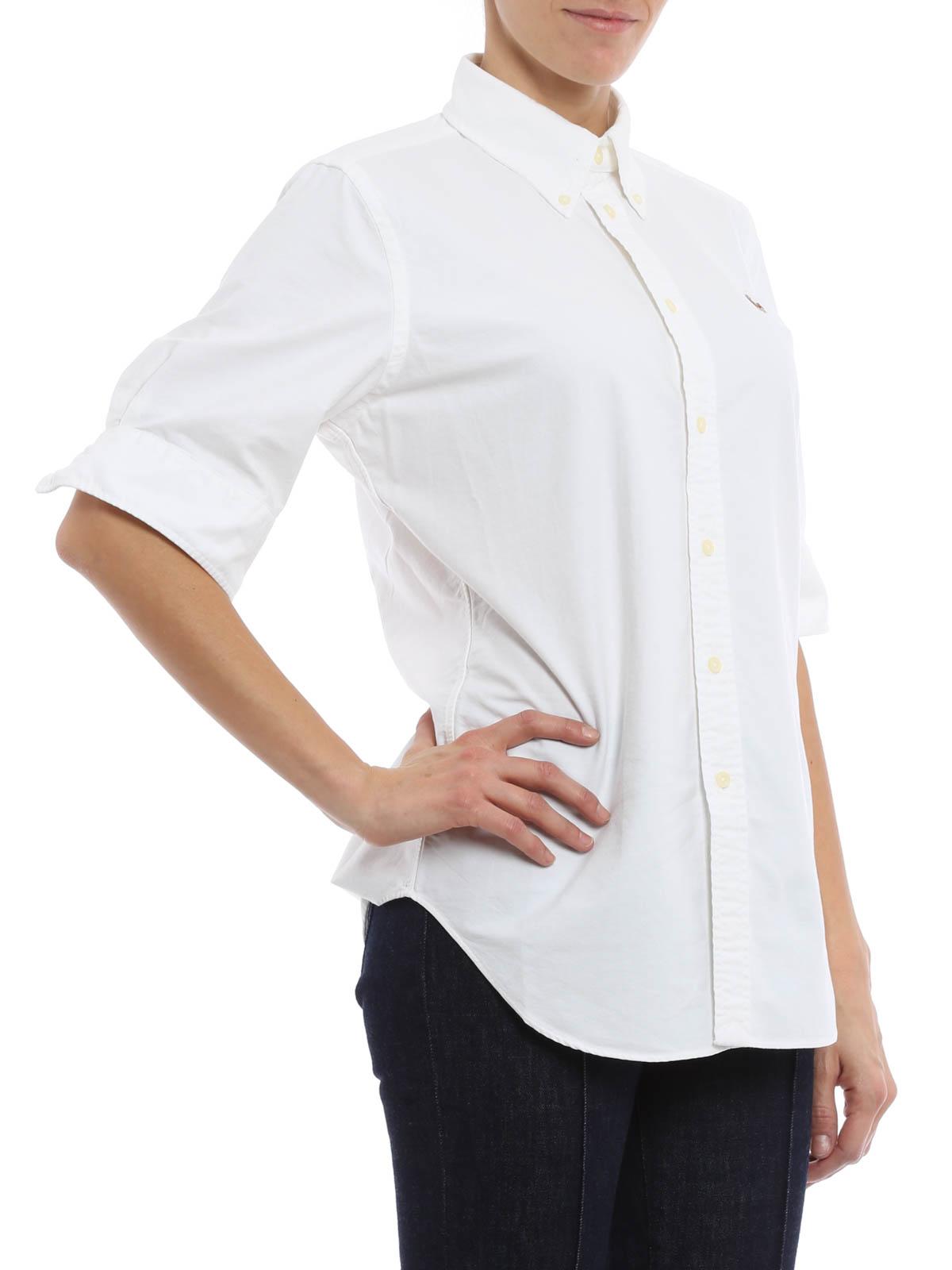 28021408ff7ae Polo Ralph Lauren - Camisa Blanca Para Mujer - Camisas - V33 IOJEY ...