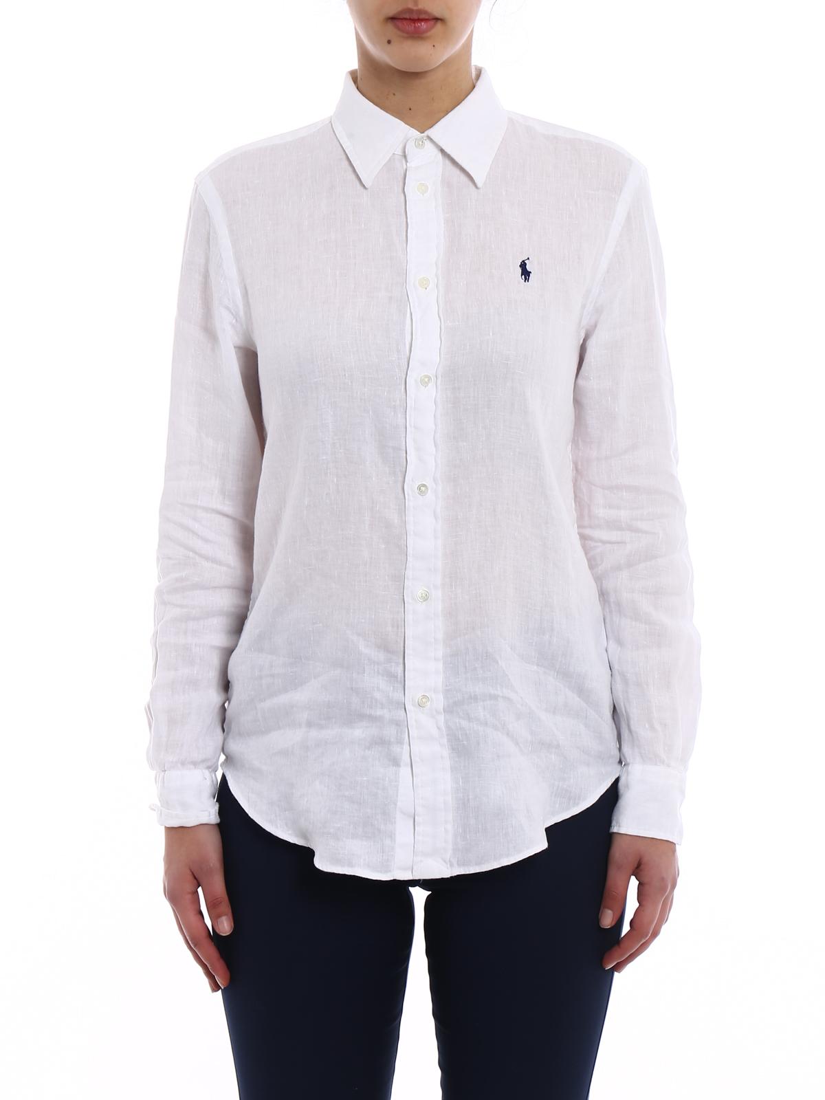 086f49c34 Polo Ralph Lauren - White linen shirt - shirts - 211697461001 ...