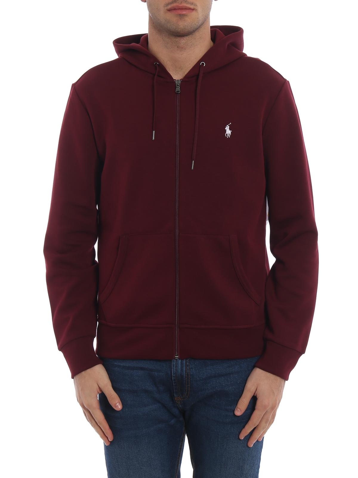401be448 Polo Ralph Lauren - Performance burgundy zip-up hoodie - Sweatshirts ...