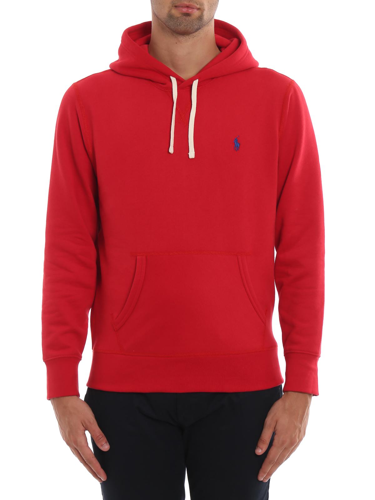 hot sale online 843c0 85883 Polo Ralph Lauren - Felpa rossa in misto cotone con ...