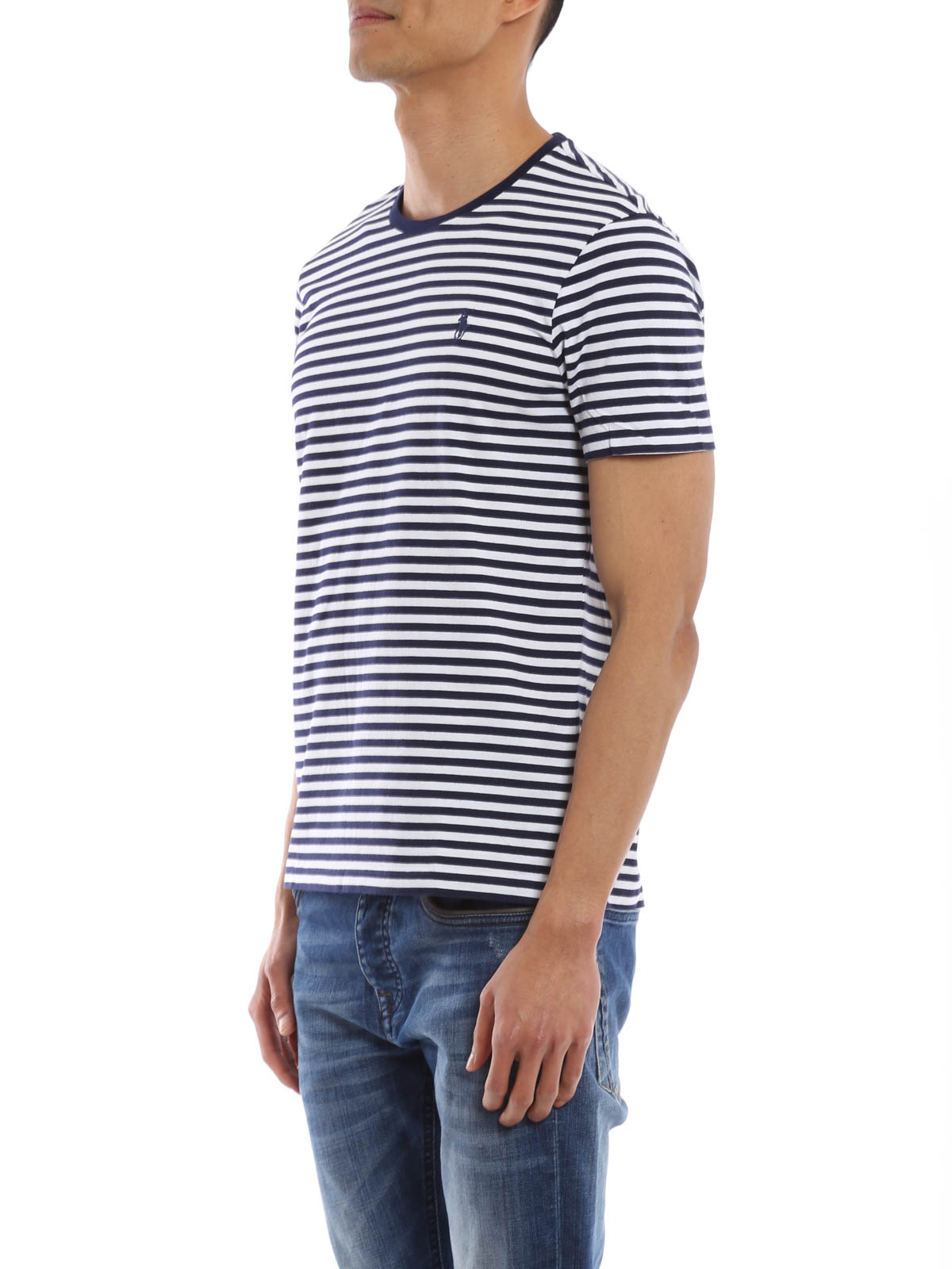best loved 8faf5 30e9c Polo Ralph Lauren - Striped cotton T-shirt - t-shirts - A16 ...