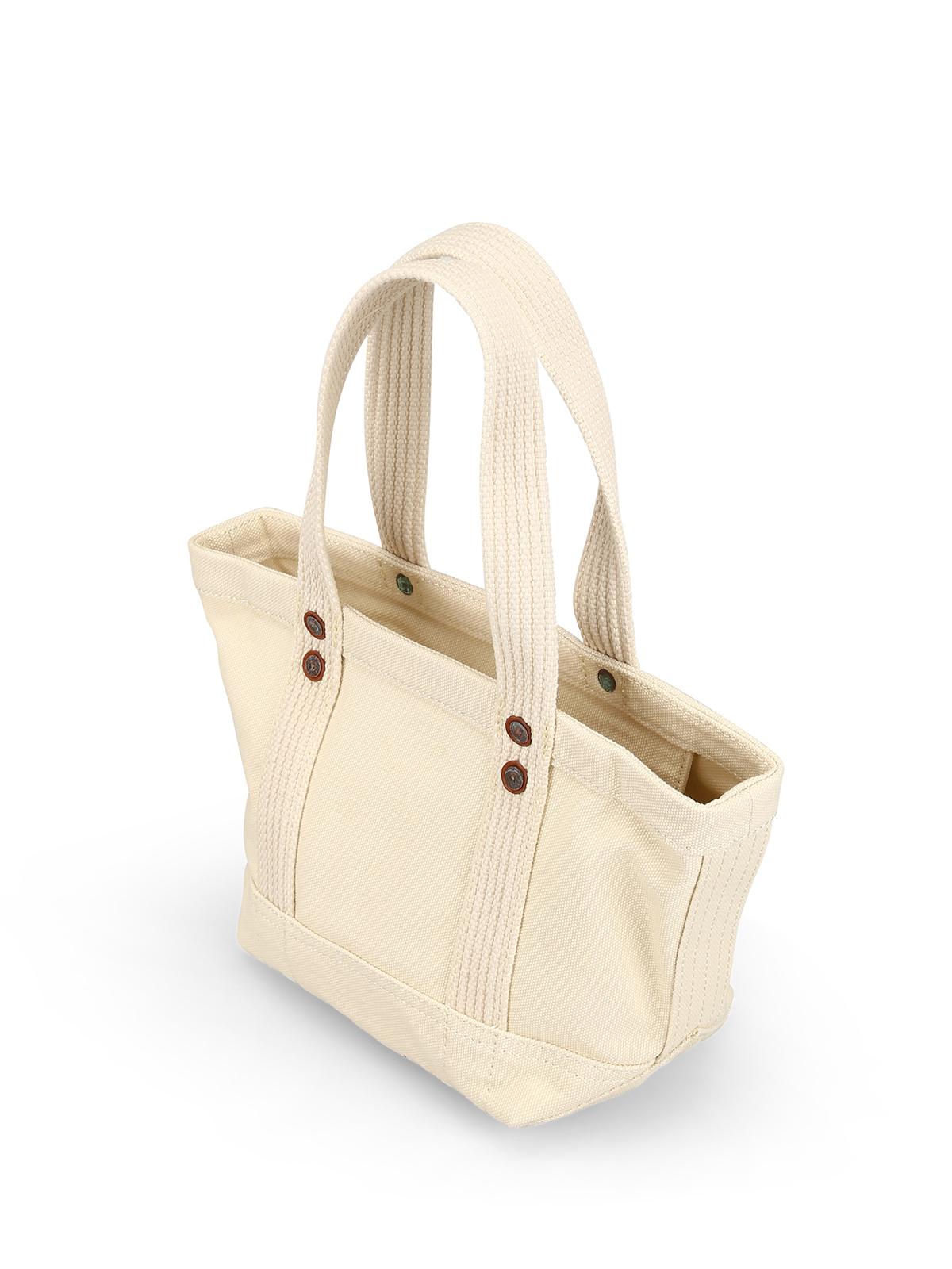 6d1b9026bcfc iKRIX POLO RALPH LAUREN  totes bags - Teddy Bear patch cream cotton mini  tote bag