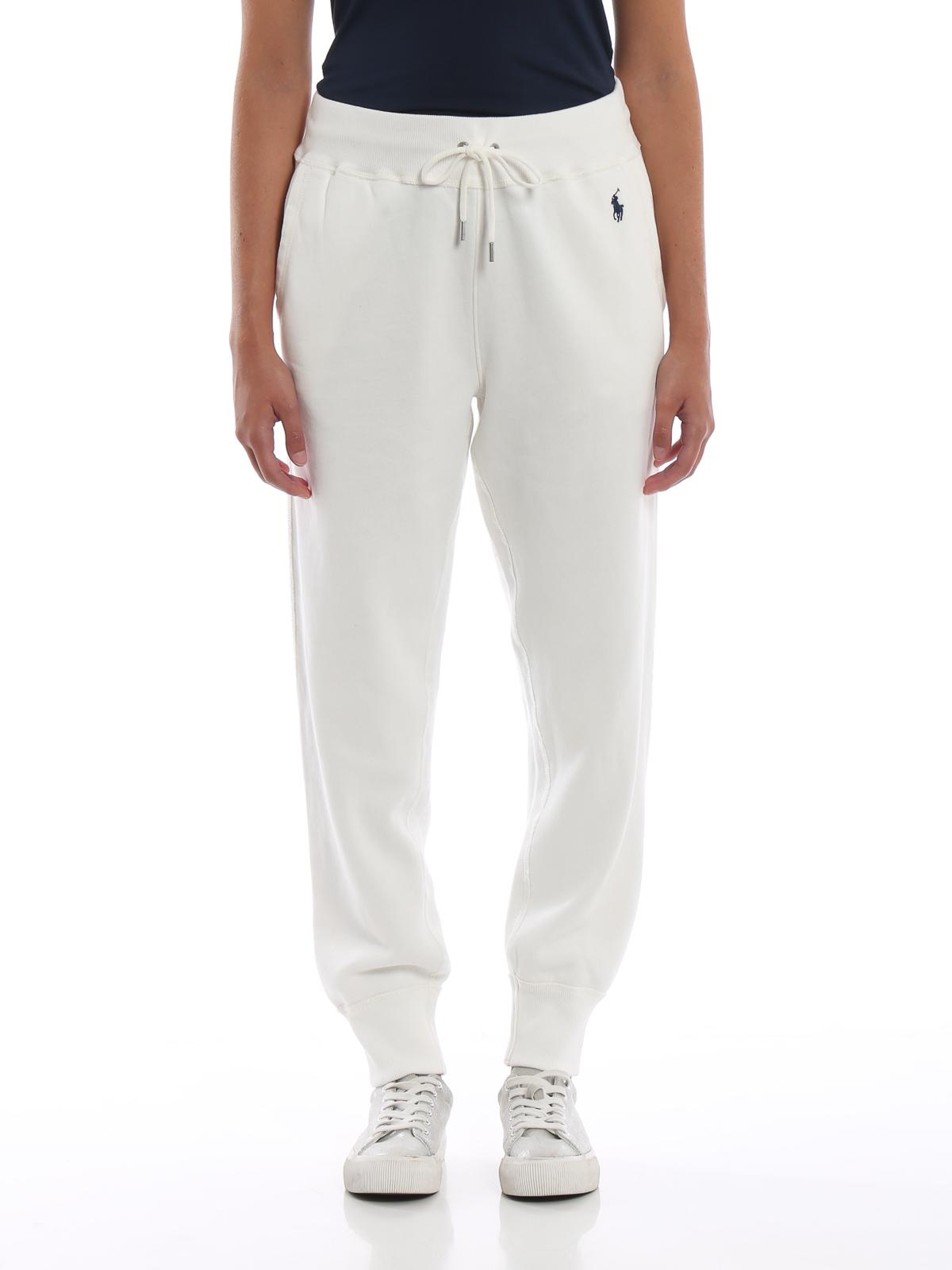 d6806b5e5 iKRIX POLO RALPH LAUREN  tracksuit bottoms - White cotton fleece tracksuit  bottoms