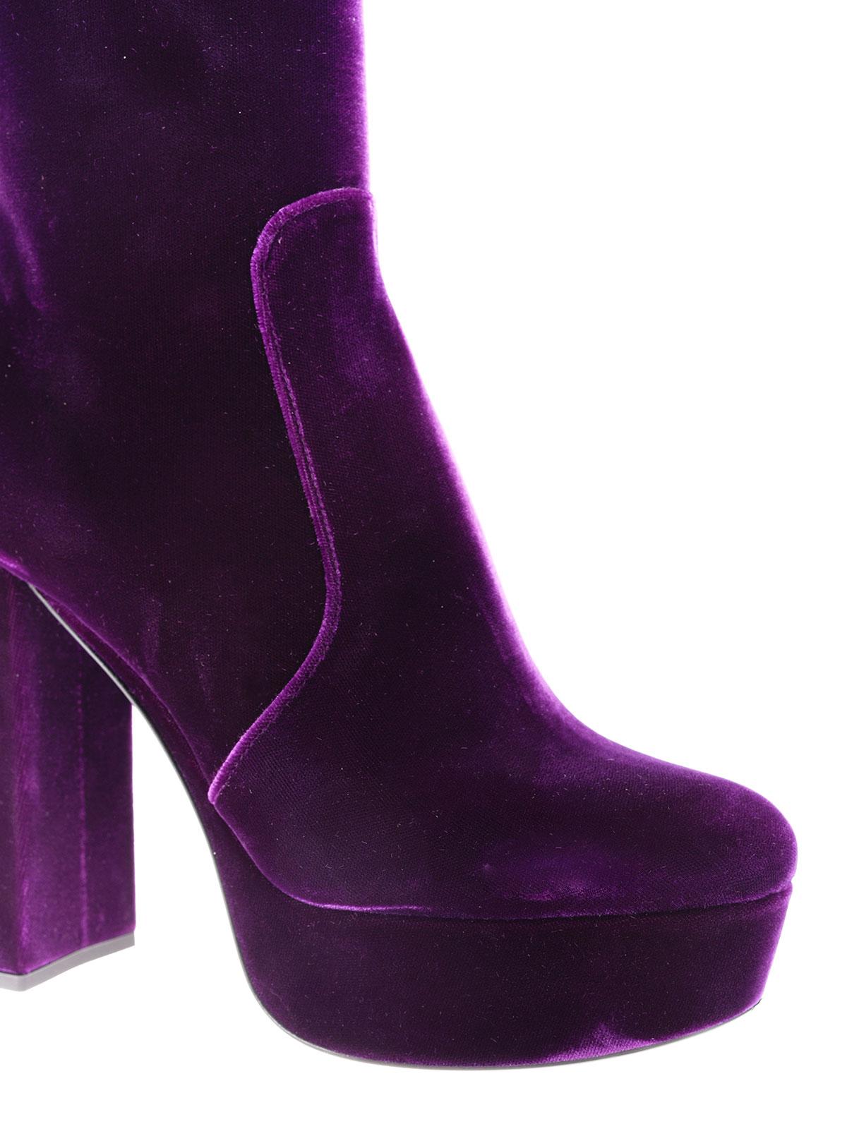 f07c7af9e2c1 Prada - Velvet platform ankle boots - ankle boots - 1TP221 068 F0531