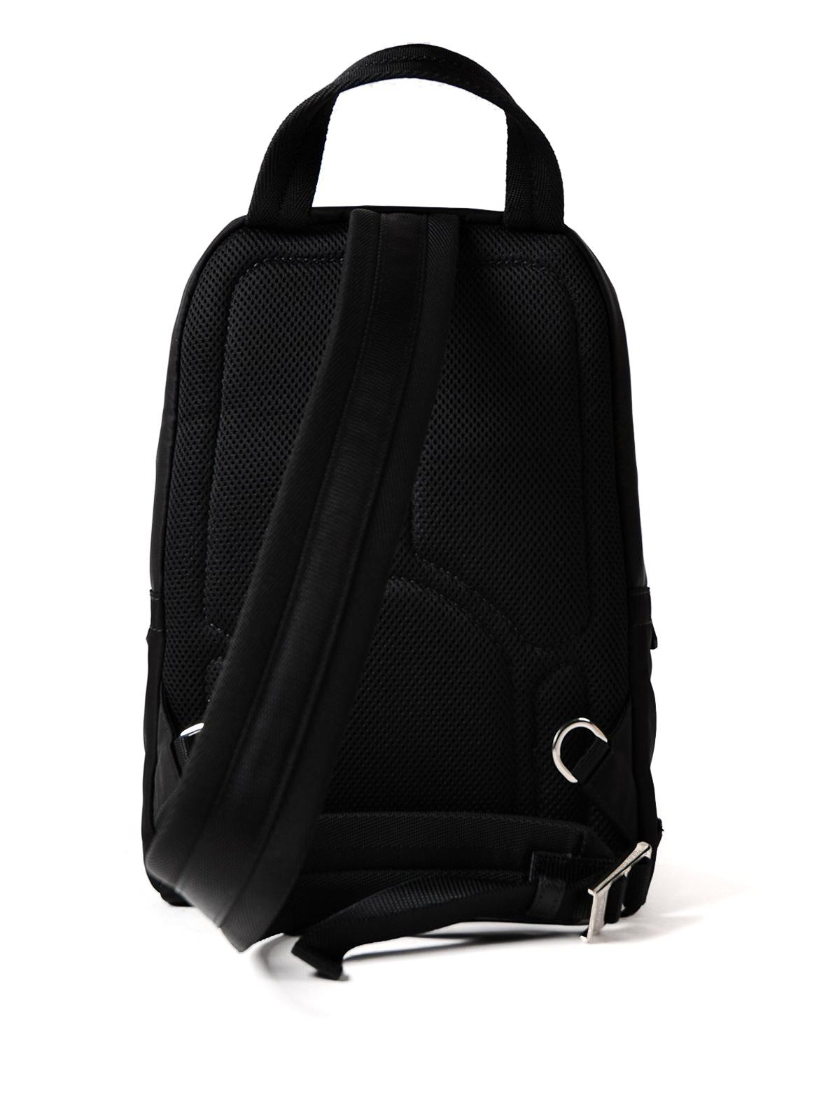 8db8cdfd7a22 Prada - Black nylon one shoulder backpack - backpacks - 2VZ013 973 002