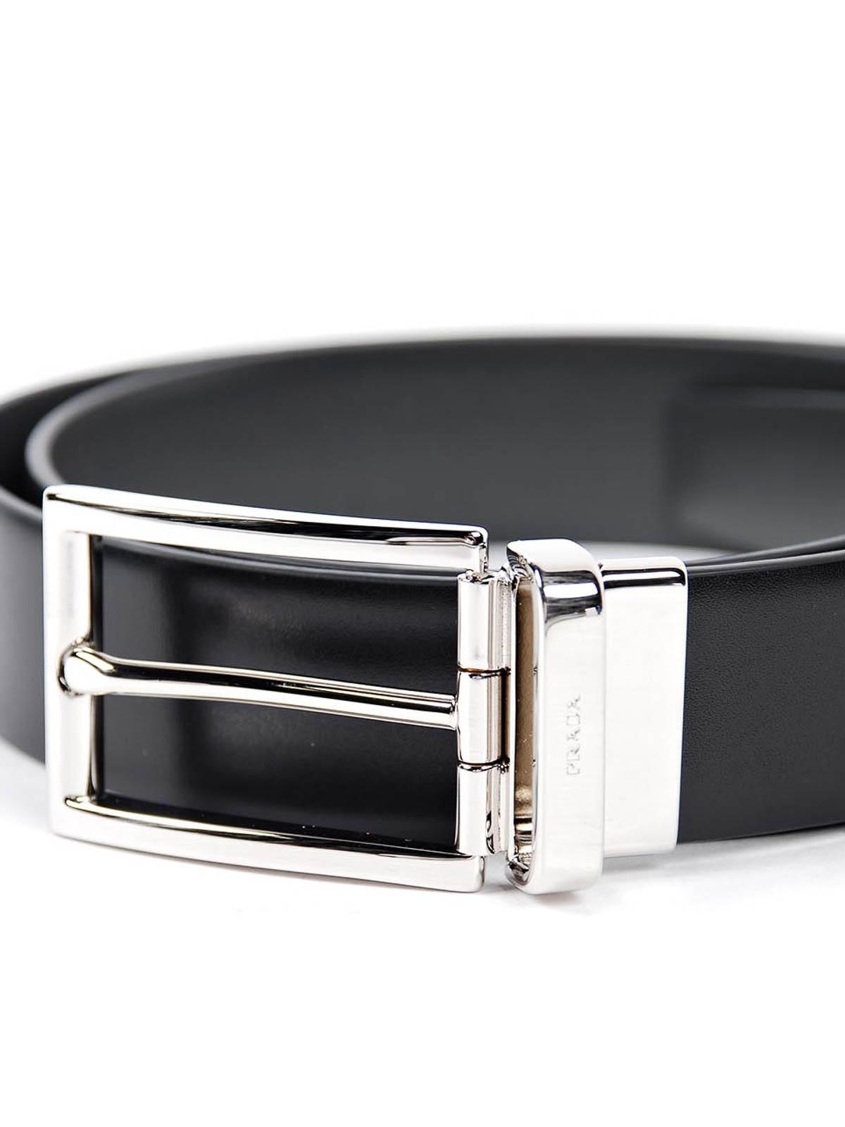 Smooth leather belt by Prada - belts | iKRIX