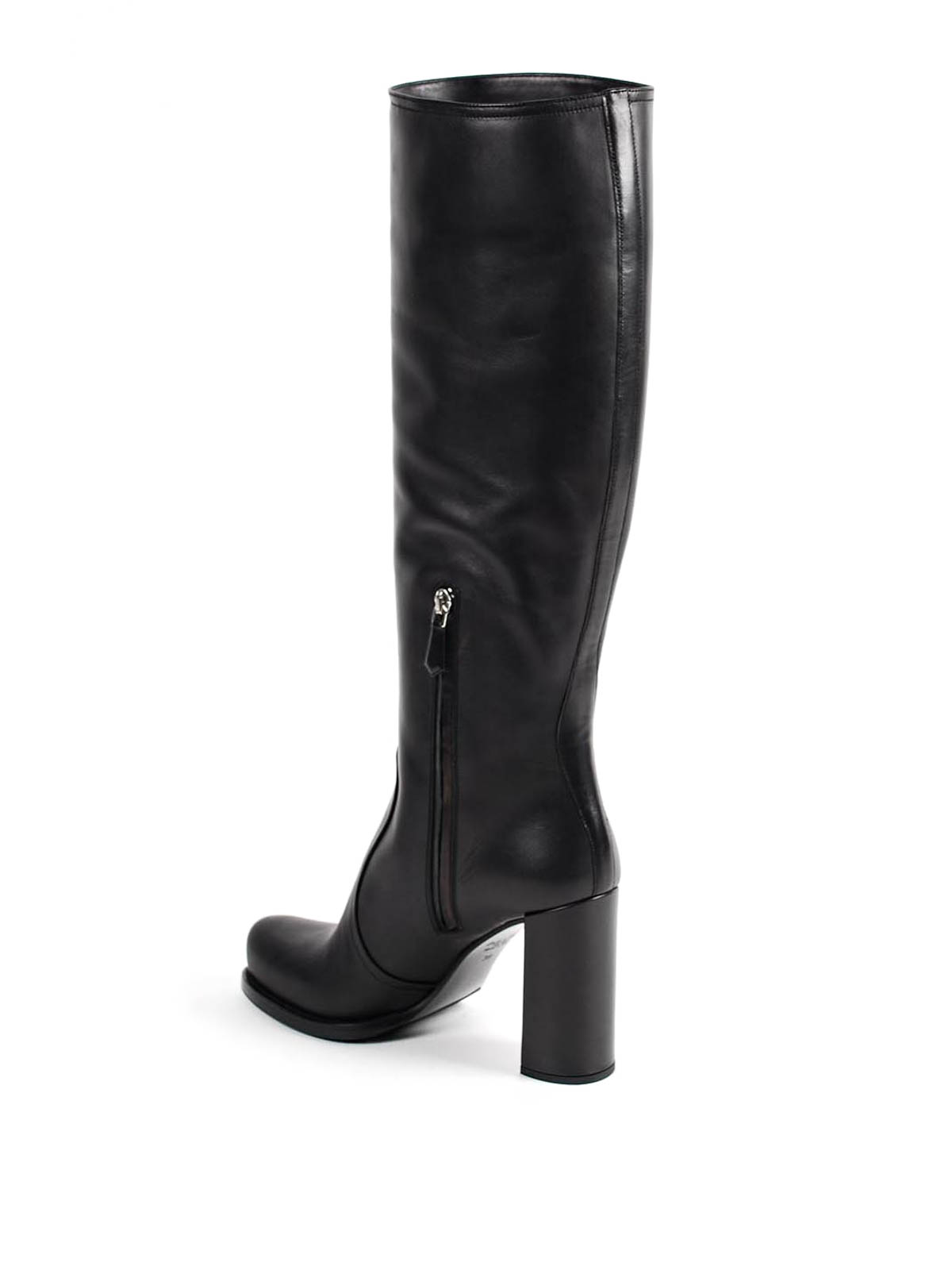 knee length leather boots by prada boots ikrix
