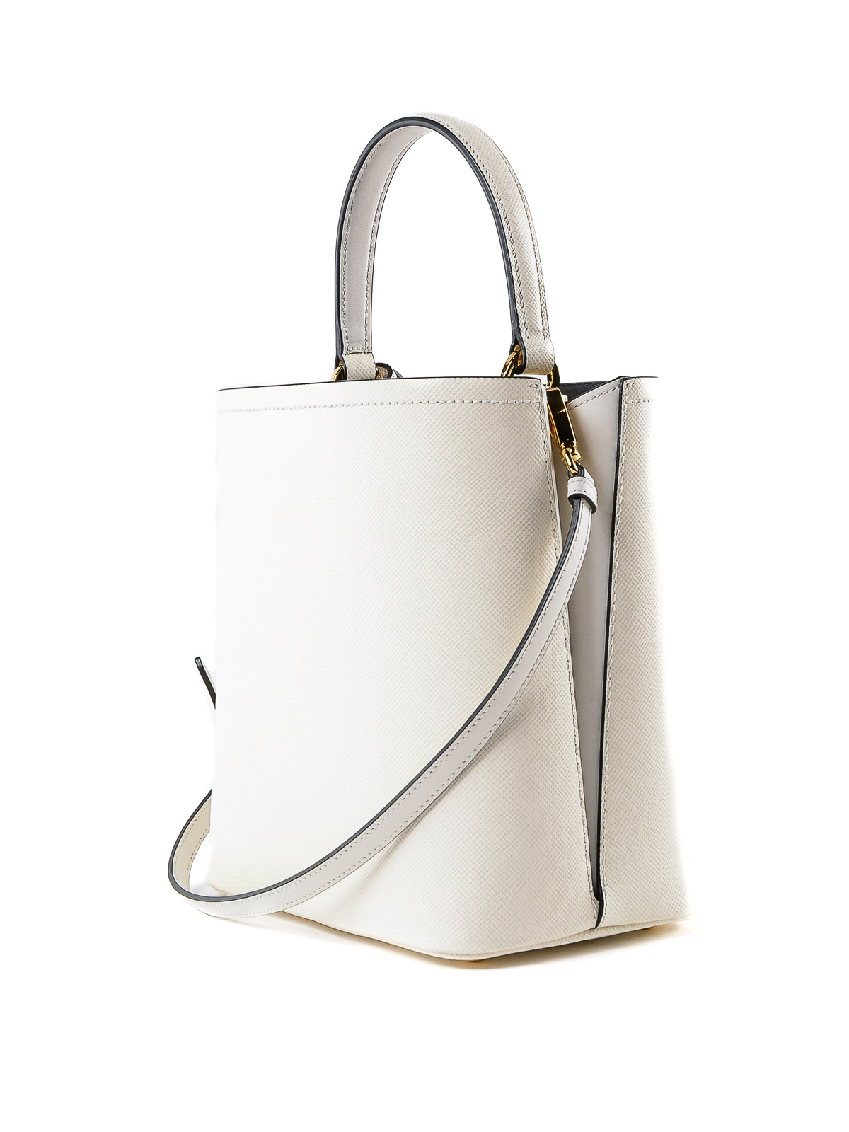 cb4920a38d4b iKRIX PRADA  Bucket bags - White Saffiano leather double bucket bag