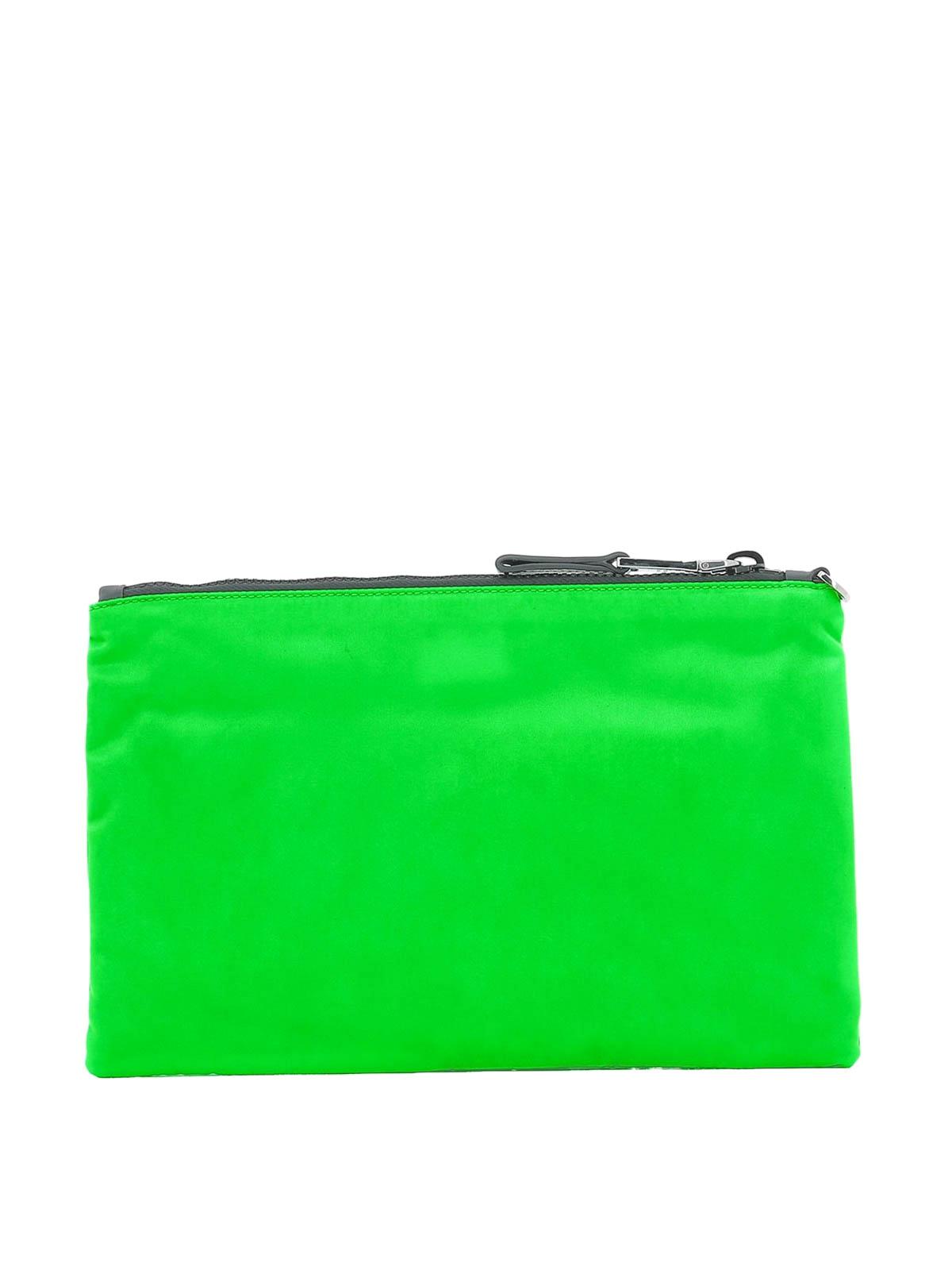 244b6e67a2ffe6 Prada - Fluo green nylon clutch - clutches - 2NH0062BTEF0XYA | iKRIX.com