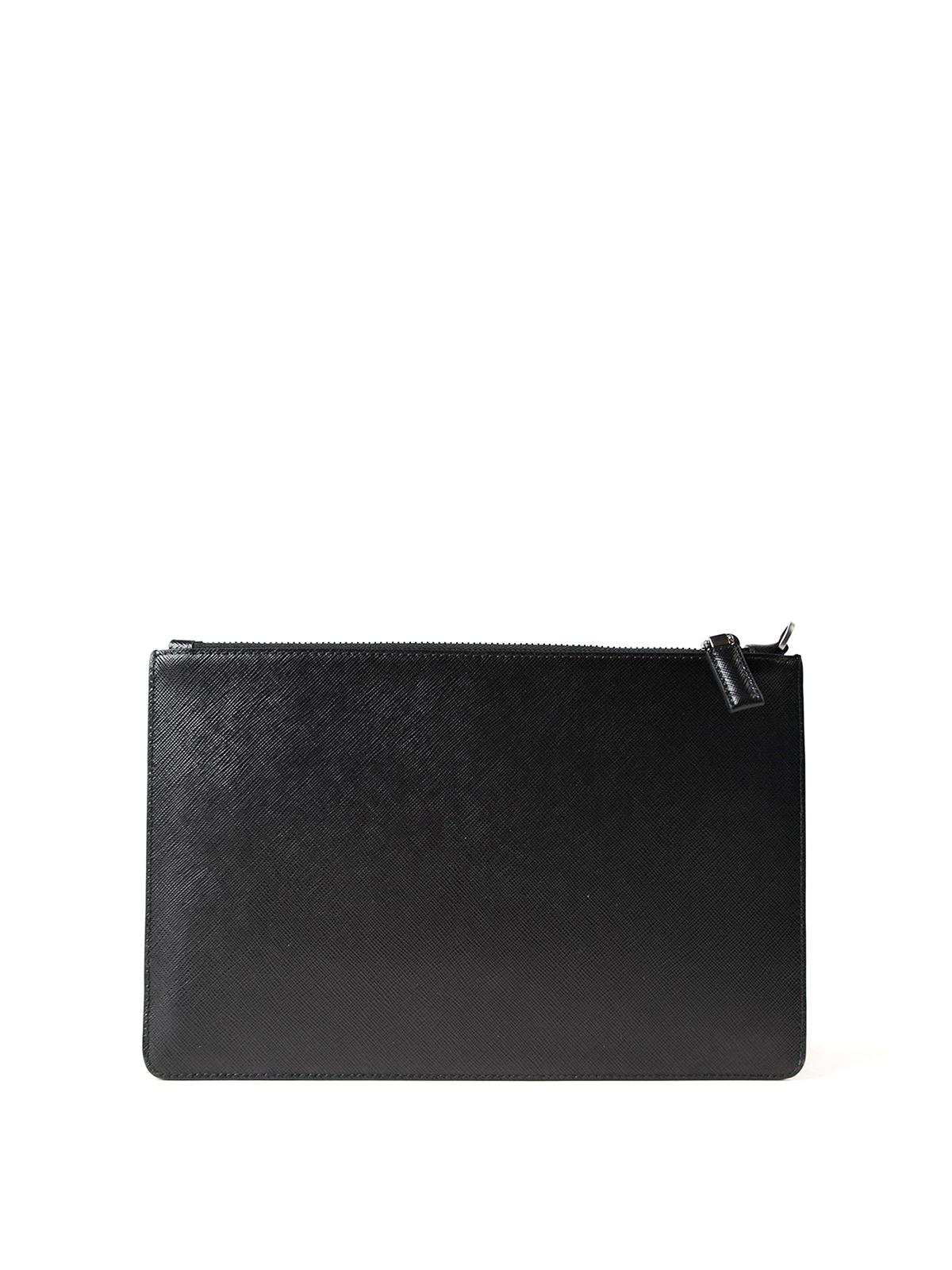 logo tone on tone wallet Prada 7gppd