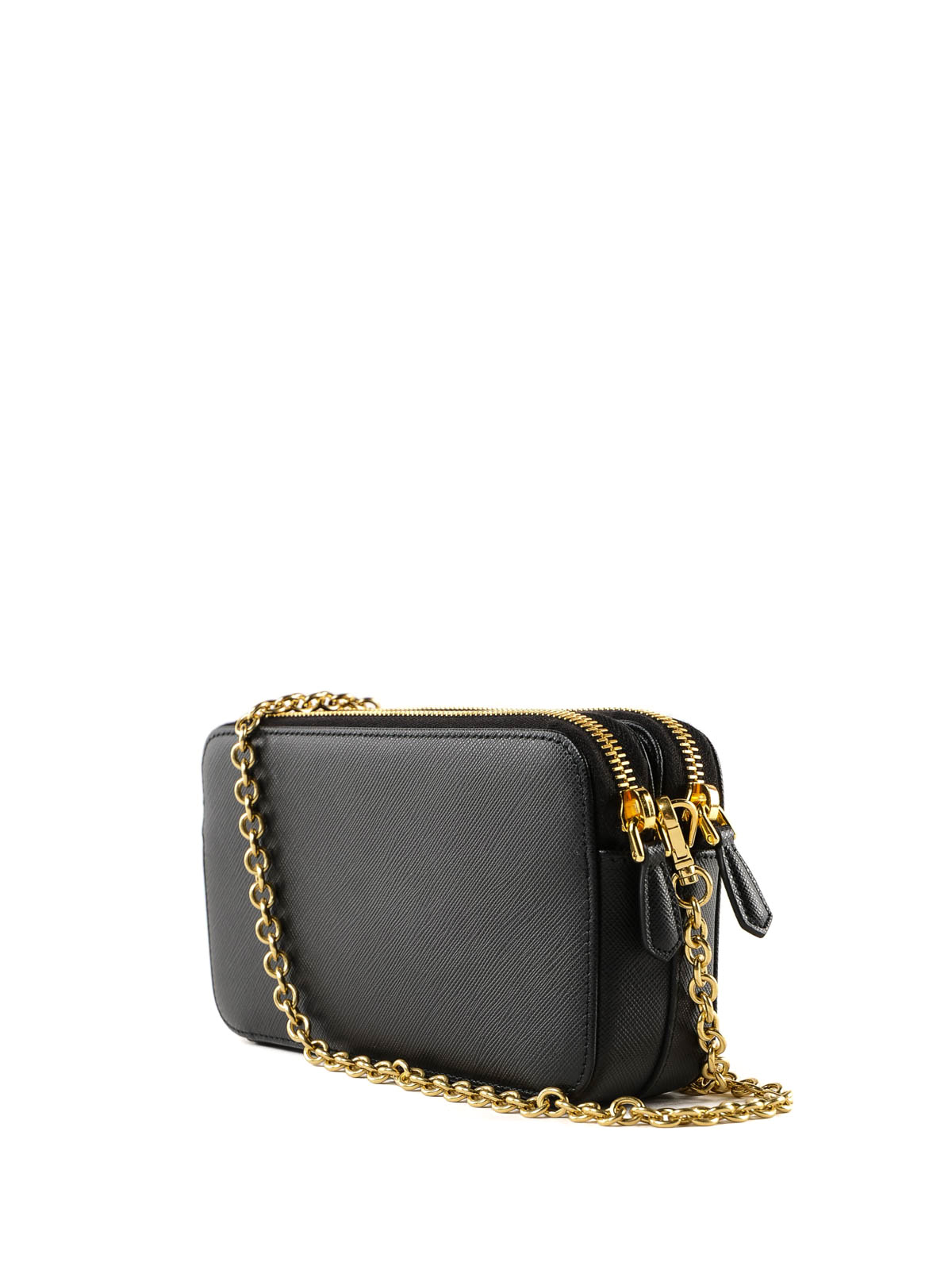 36acb881a575 iKRIX PRADA: cross body bags - Black saffiano leather mini crossbody