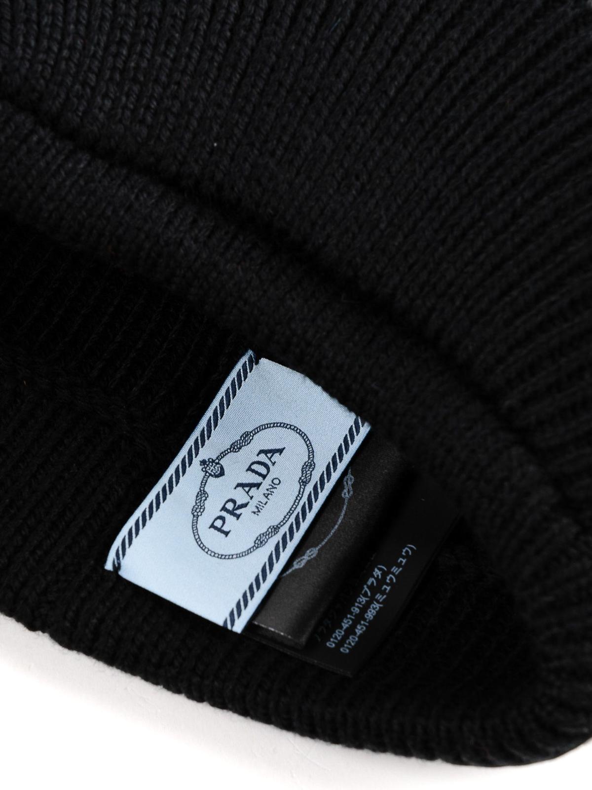 f47a1067ba1 iKRIX PRADA  hats   caps - Wool headband with visor and rubber logo