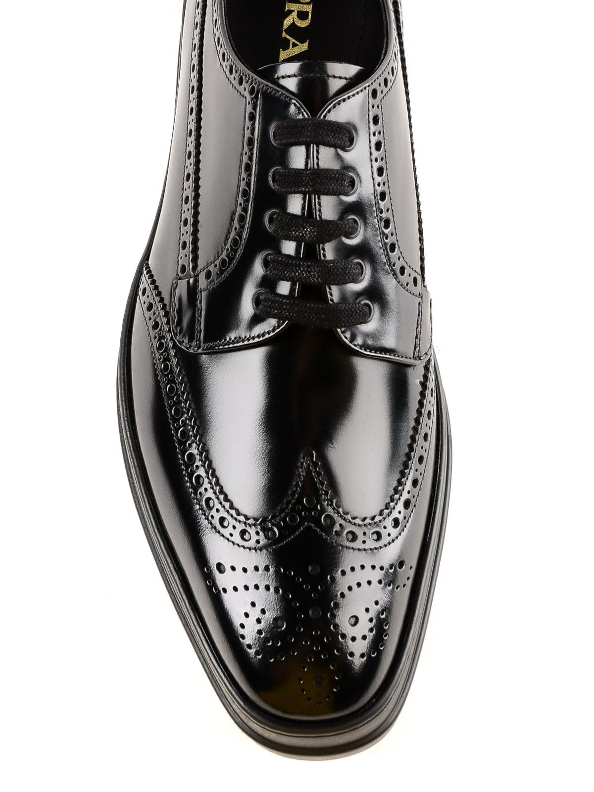 Prada - Platform brogue lace-up black