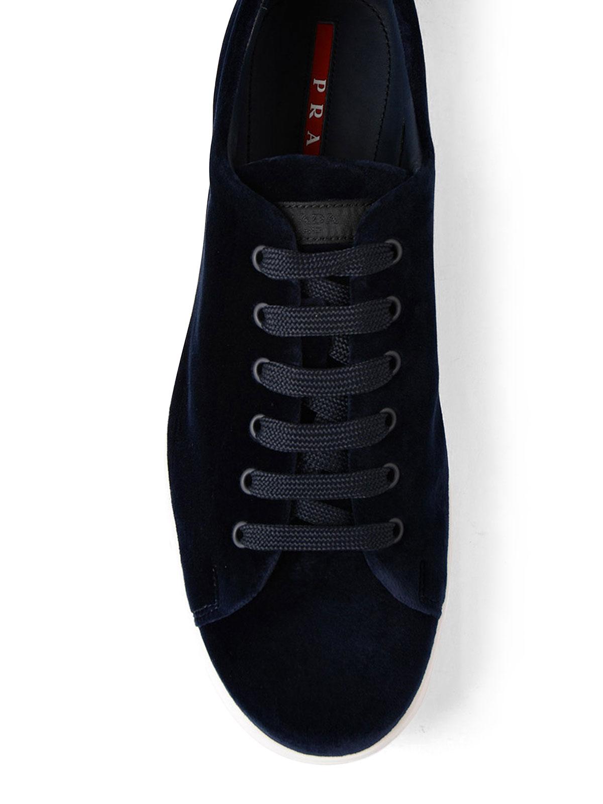Prada Linea Rossa - Velvet sneakers