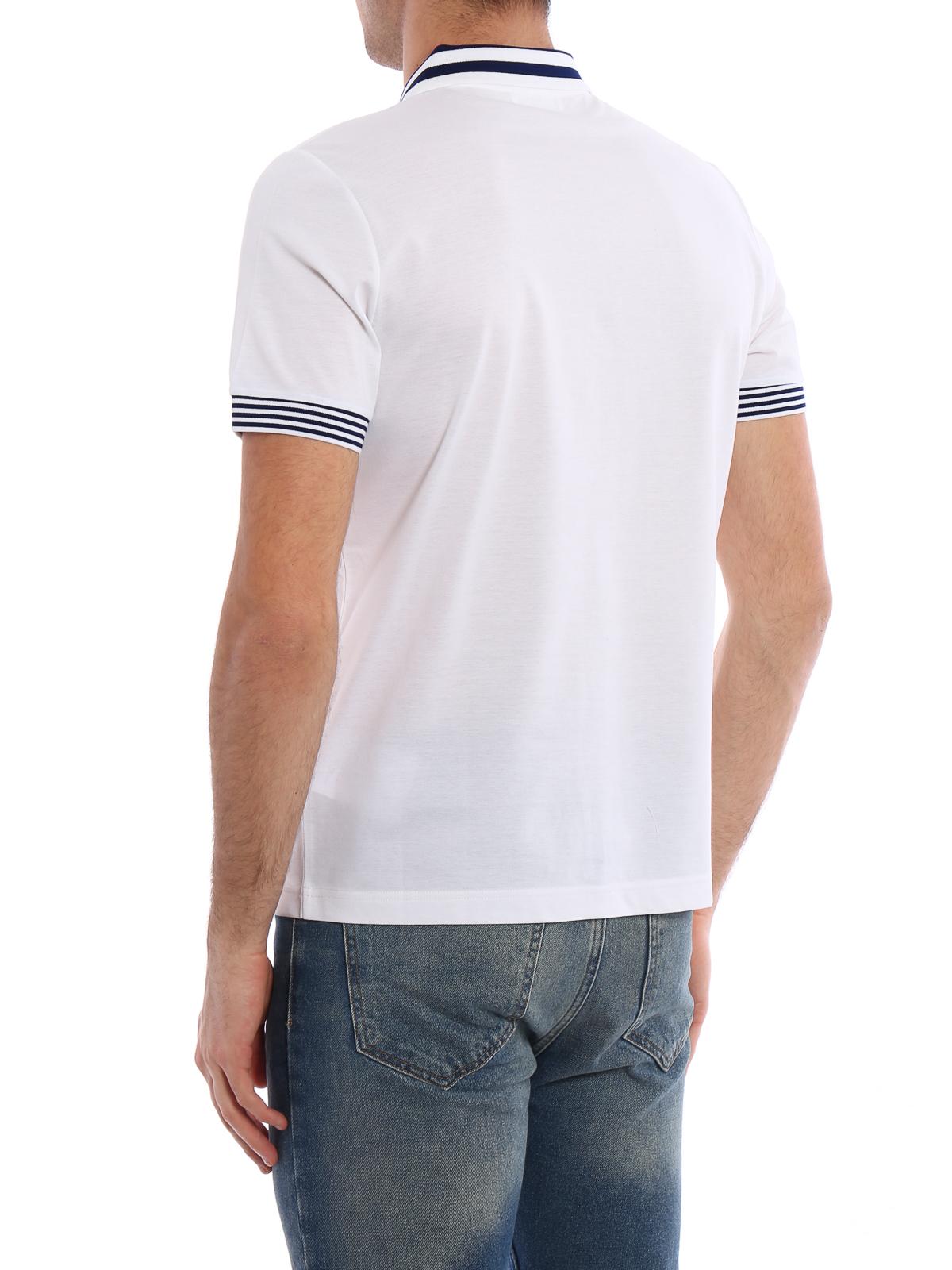 326f6436a7732 Prada - Polo Blanc Pour Homme - Polos - UJN380XGSF0C63
