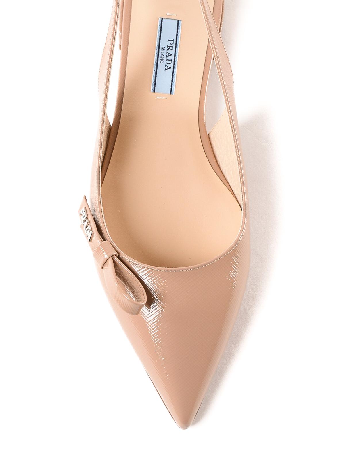 02ab00de4f36 iKRIX PRADA  sandals - Pink patent leather slingback flat sandals