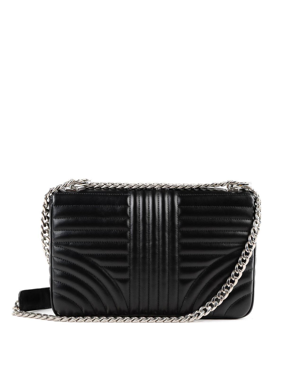 e4c2f27dd2 iKRIX PRADA: shoulder bags - Diagramme black leather shoulder bag