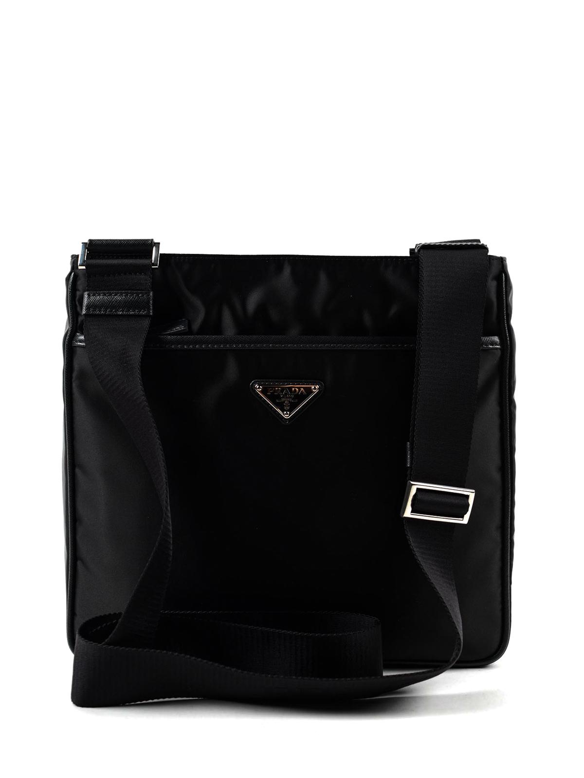 0e91acbeee34 Prada - Saffiano and nylon messenger bag - shoulder bags - 2VH269064 002