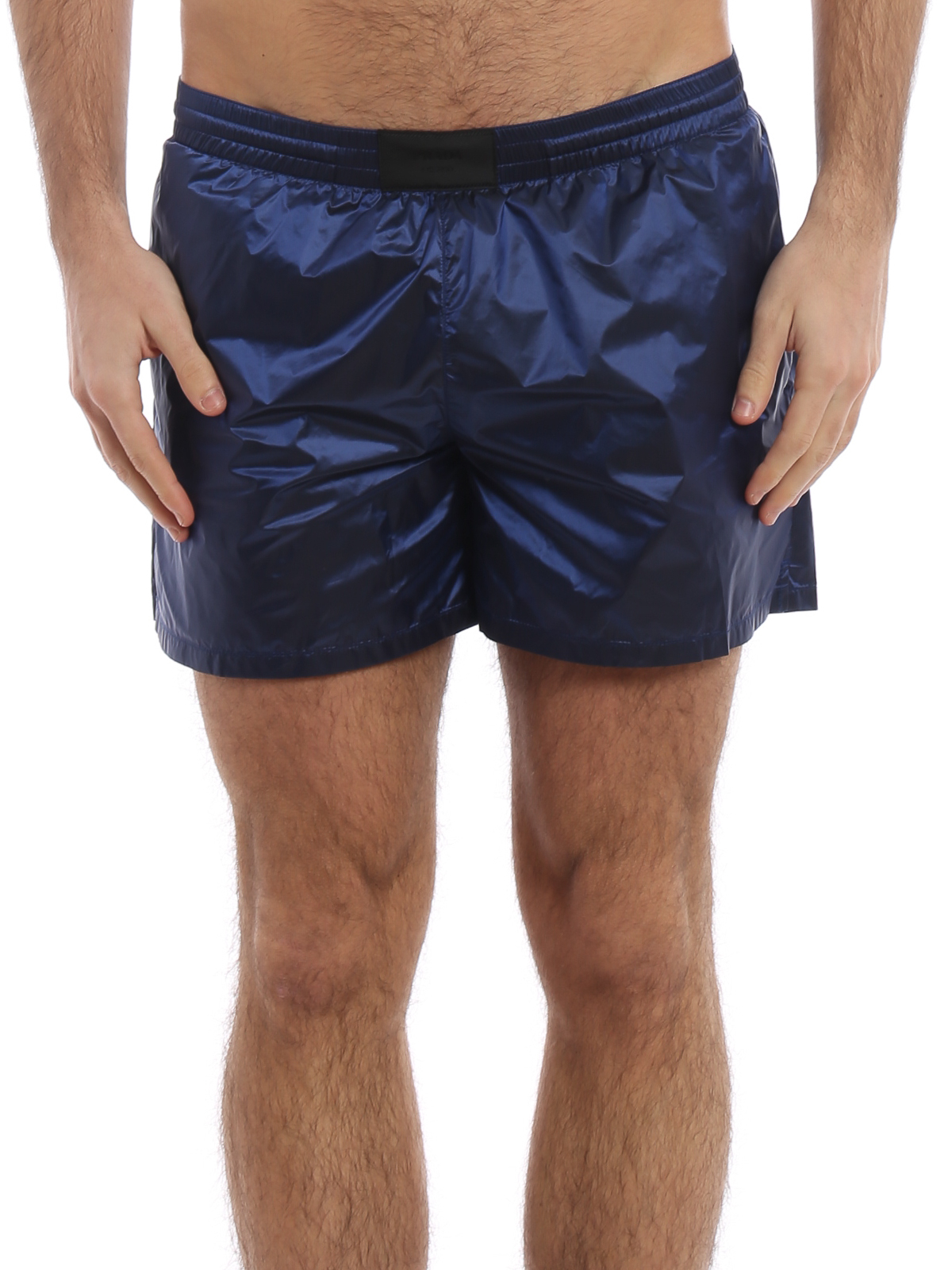 468c2dbe11 iKRIX PRADA: Swim shorts & swimming trunks - Blue microristop nylon swim  shorts