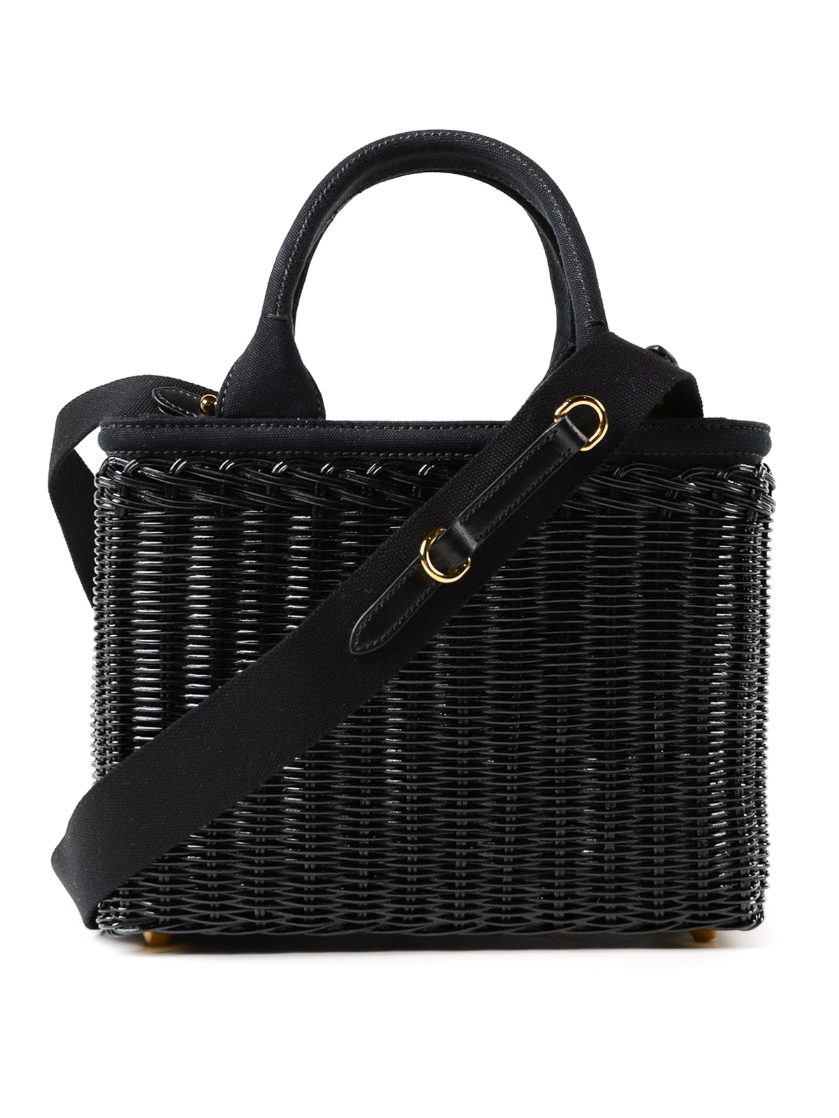 1f67a2cbd291 italy ikrix prada totes bags black wicker and hemp small tote c7816 e831c