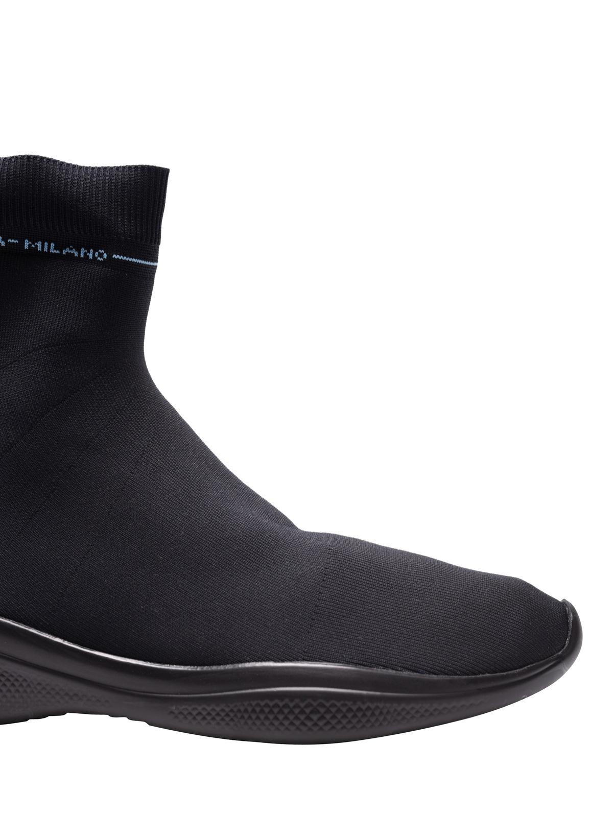 Prada - Black stretch fabric sock slip
