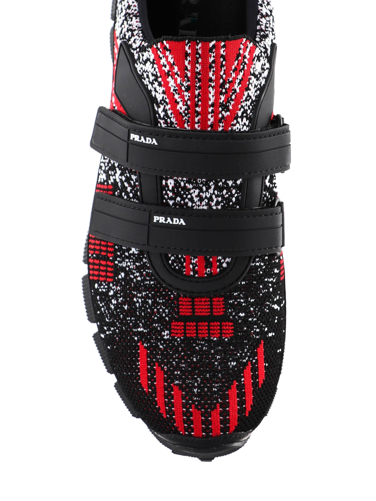 Prada - Crossection knit black and red