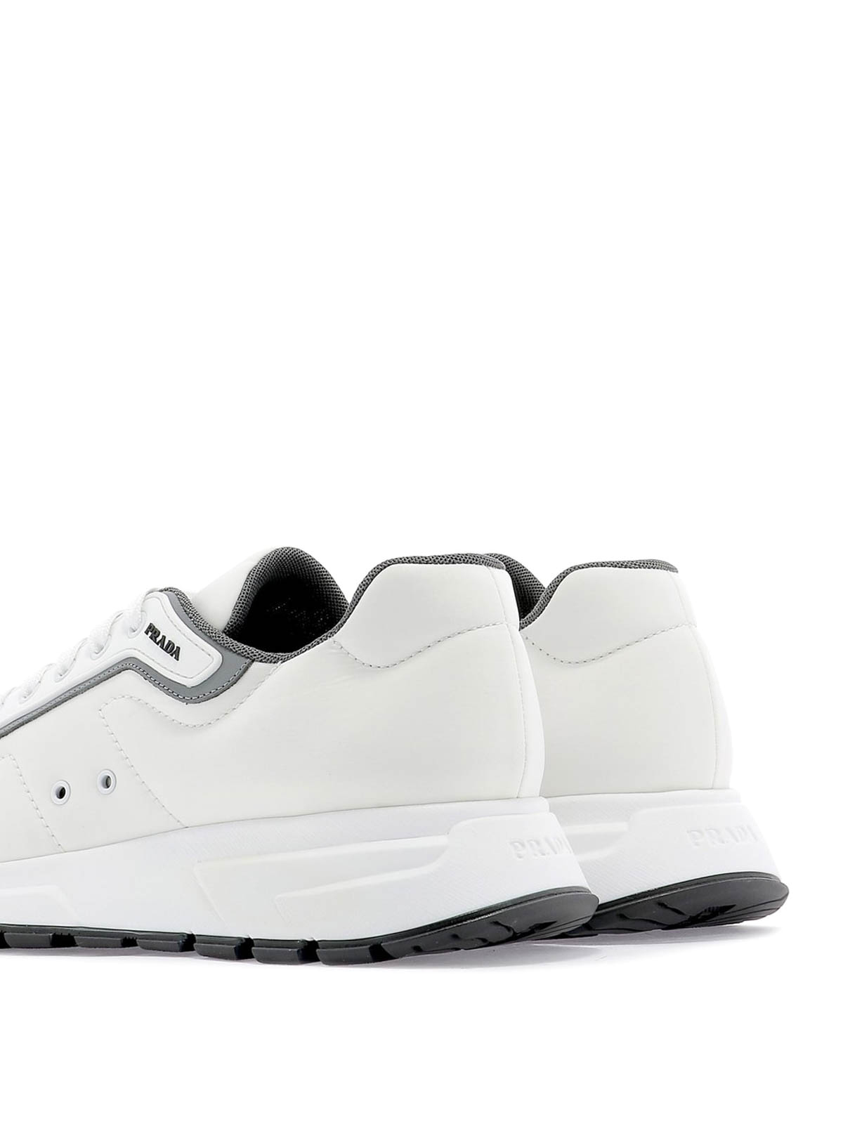 Gabardine Soft white low top sneakers