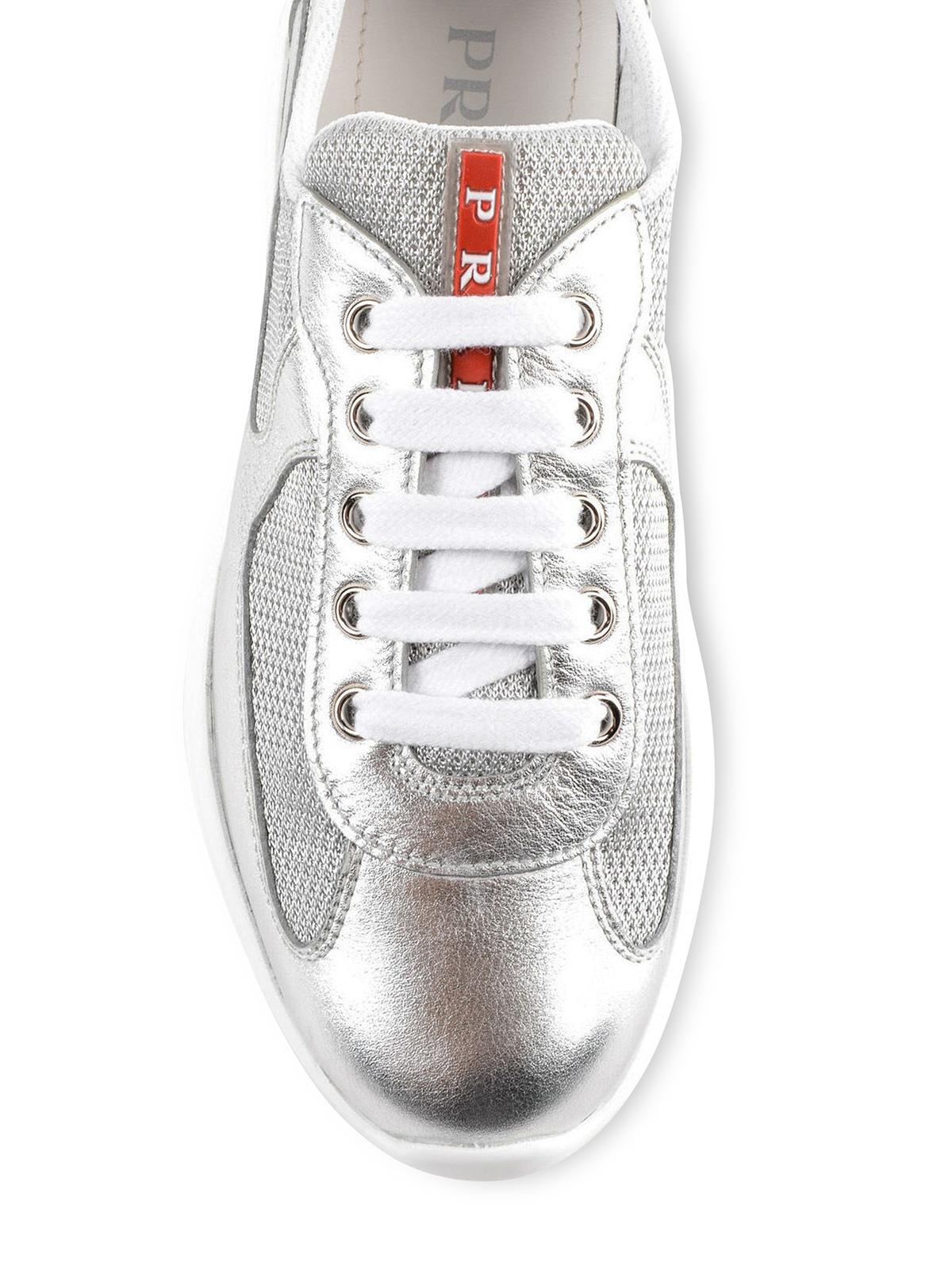 061c395cbb7ee Prada - Baskets - Argent - Chaussures de sport - 1E795I 6GW 118