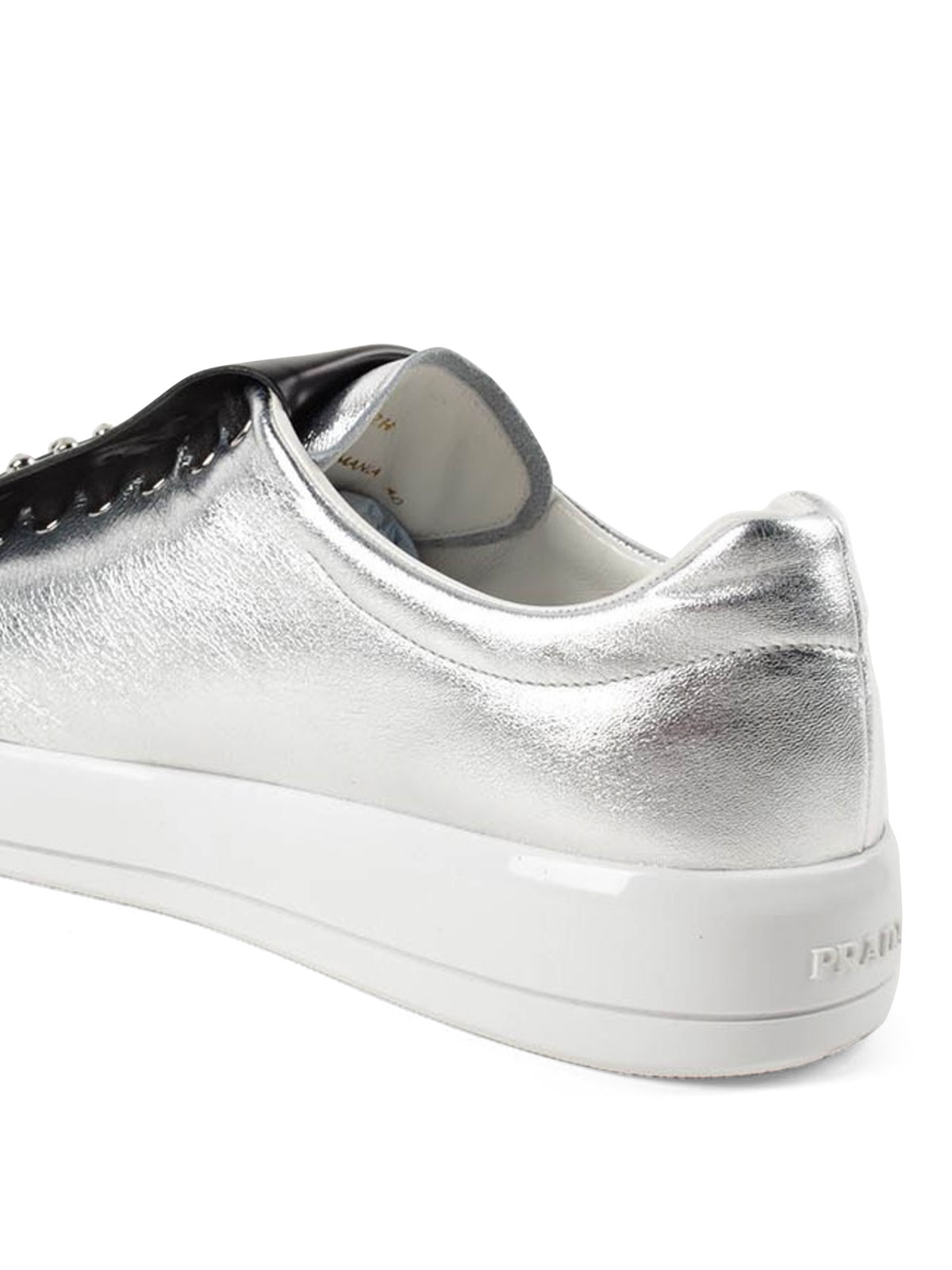 sneaker fur damen silber von prada sneaker ikrix. Black Bedroom Furniture Sets. Home Design Ideas