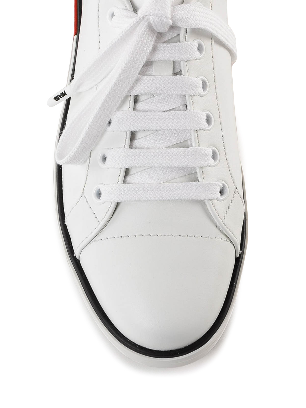 1f8226d7 Prada - Two-tone sole white leather sneakers - trainers - 1E275L3J8K H5A